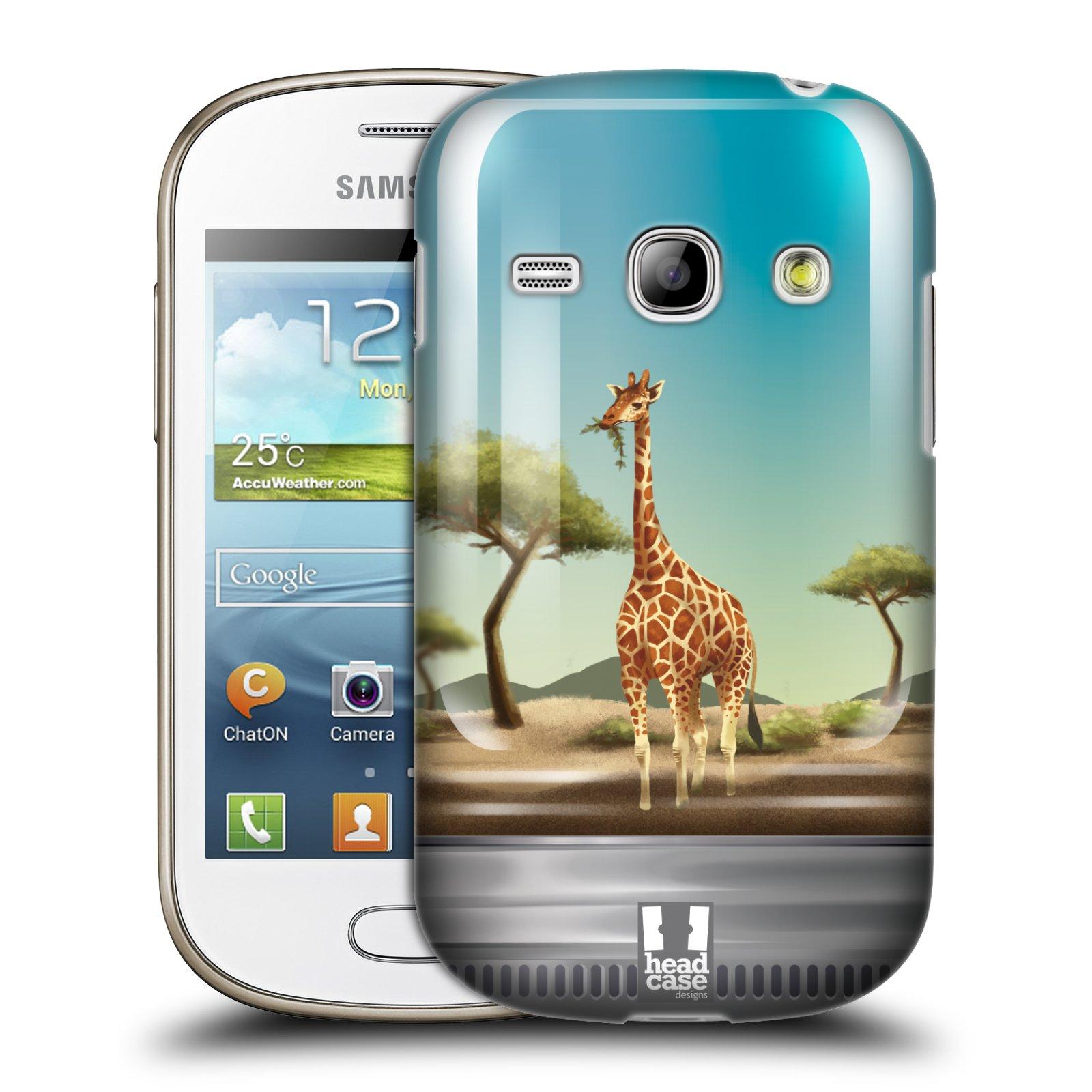 HEAD CASE plastový obal na mobil SAMSUNG GALAXY FAME (S6810) vzor Zvířátka v těžítku žirafa