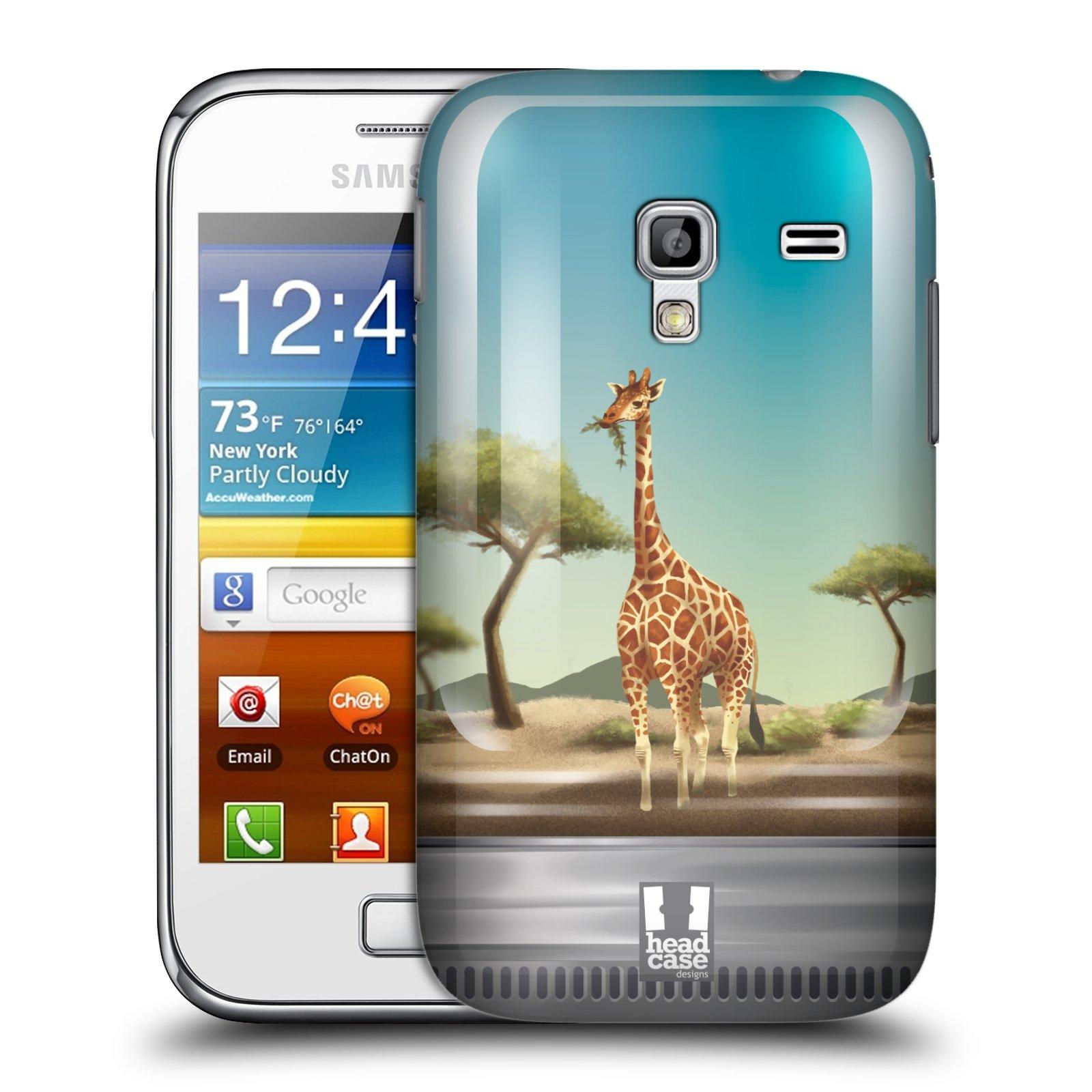 HEAD CASE plastový obal na mobil SAMSUNG GALAXY ACE PLUS (S7500) vzor Zvířátka v těžítku žirafa