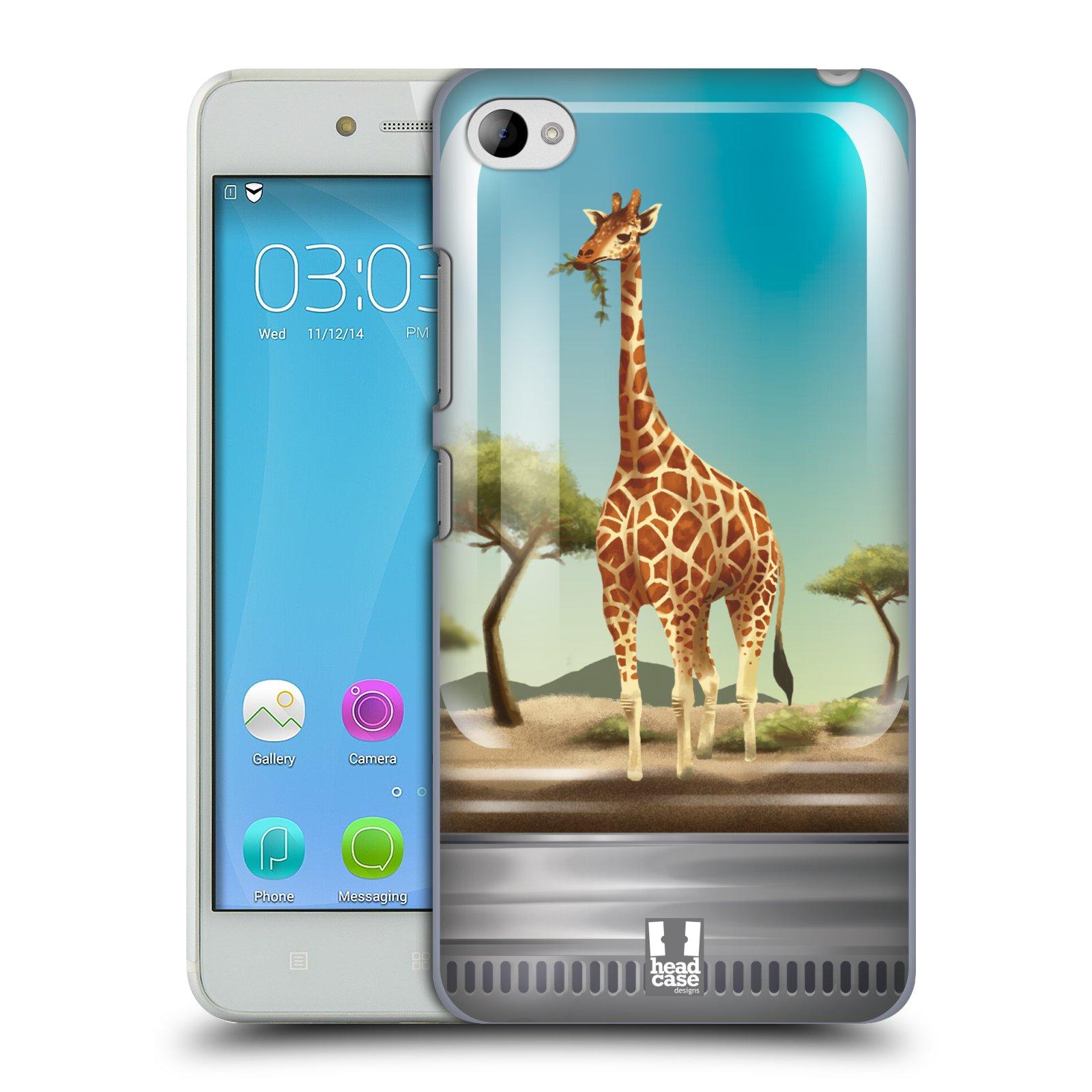 HEAD CASE pevný plastový obal na mobil LENOVO S90 vzor Zvířátka v těžítku žirafa