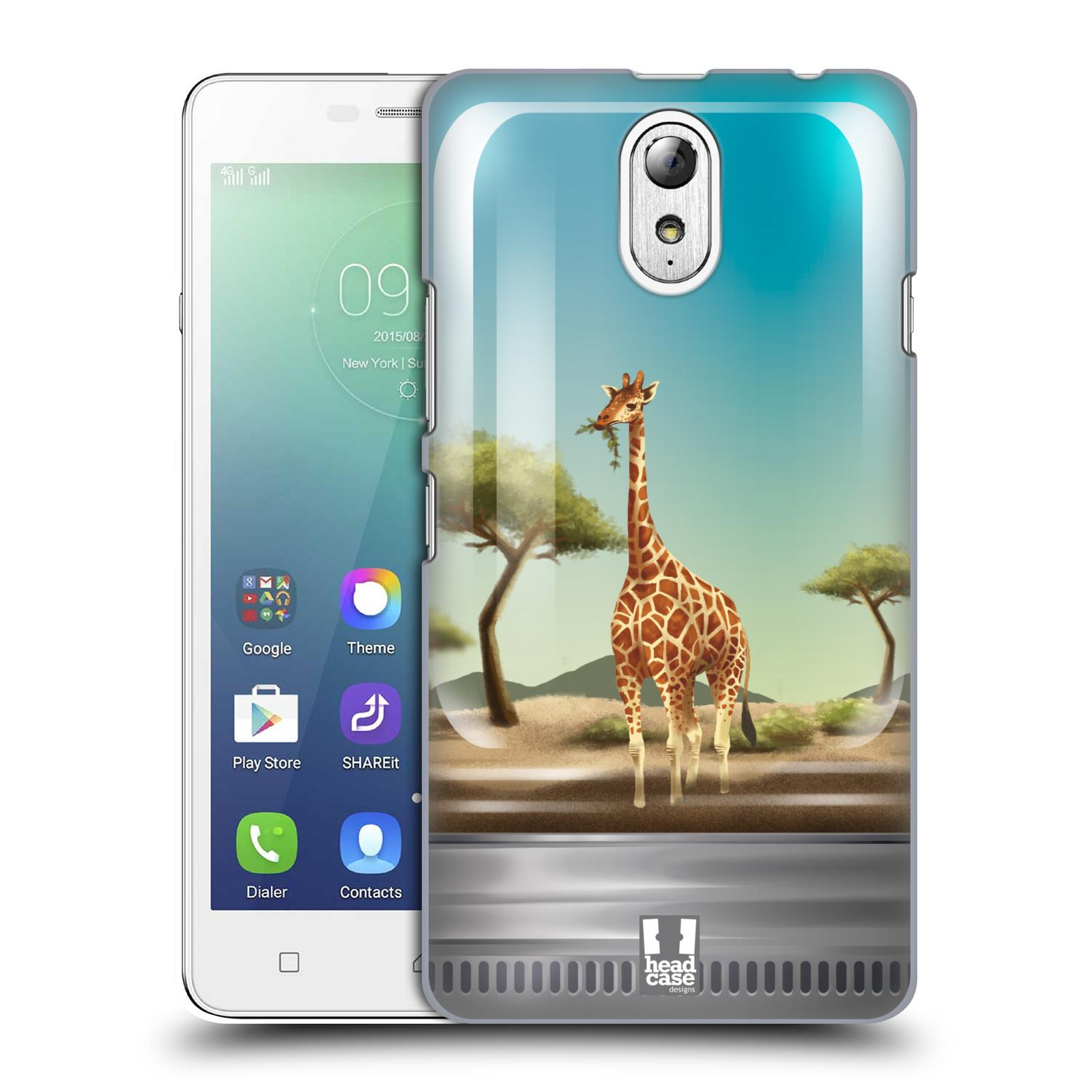 HEAD CASE pevný plastový obal na mobil LENOVO VIBE P1m / LENOVO VIBE p1m DUAL SIM vzor Zvířátka v těžítku žirafa