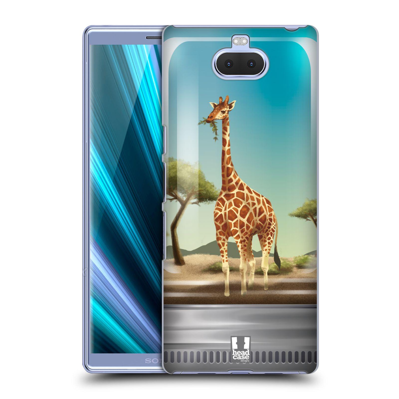 Pouzdro na mobil Sony Xperia 10 - Head Case - vzor Zvířátka v těžítku žirafa