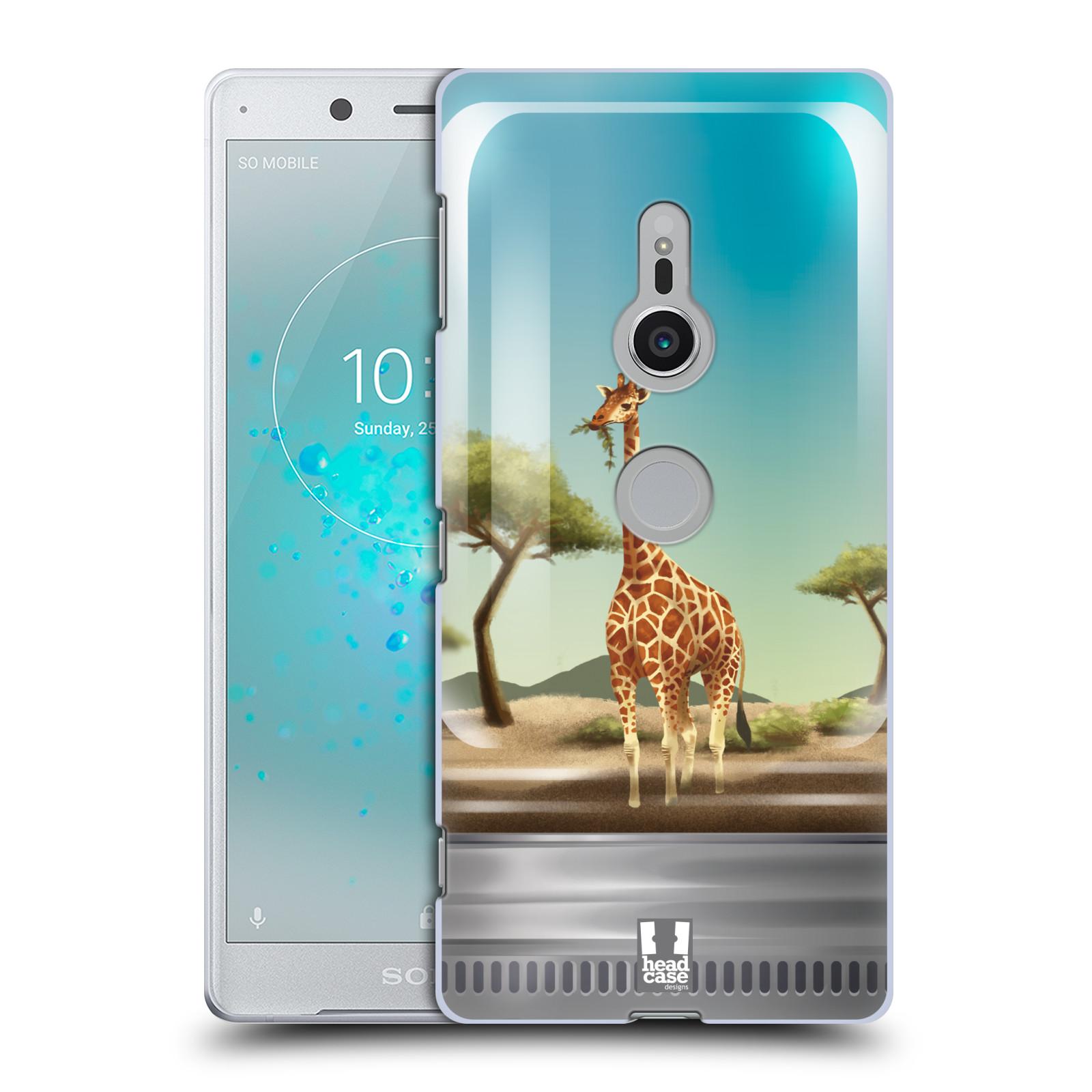 HEAD CASE plastový obal na mobil Sony Xperia XZ2 vzor Zvířátka v těžítku žirafa