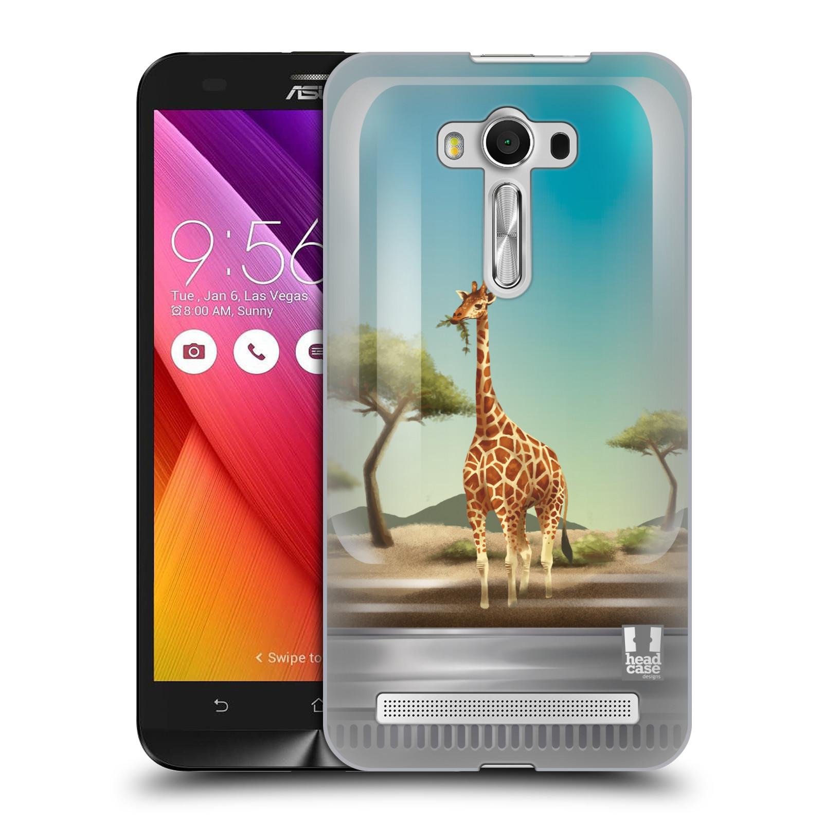 HEAD CASE plastový obal na mobil Asus Zenfone 2 LASER (5,5 displej ZE550KL) vzor Zvířátka v těžítku žirafa