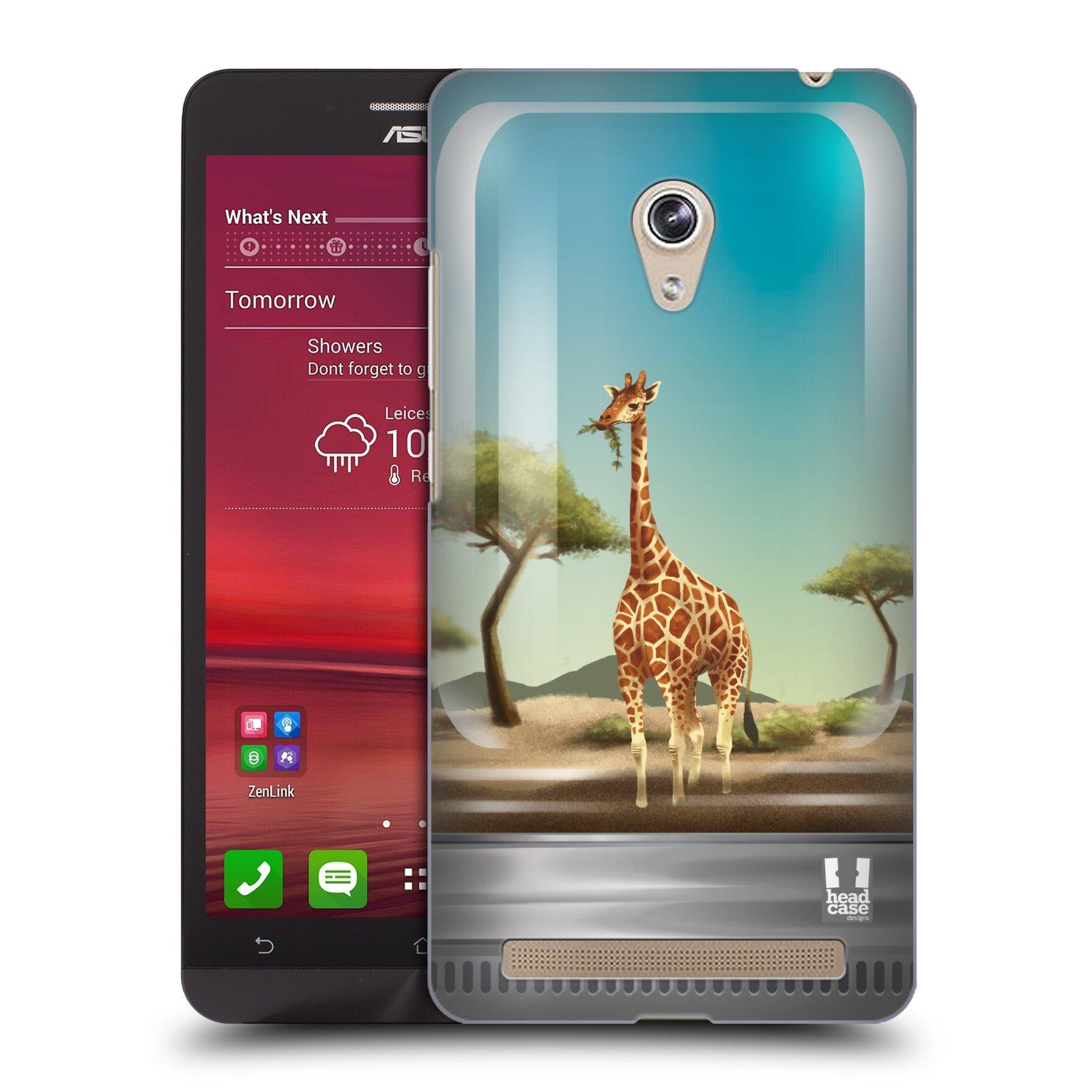 HEAD CASE plastový obal na mobil Asus Zenfone 6 vzor Zvířátka v těžítku žirafa