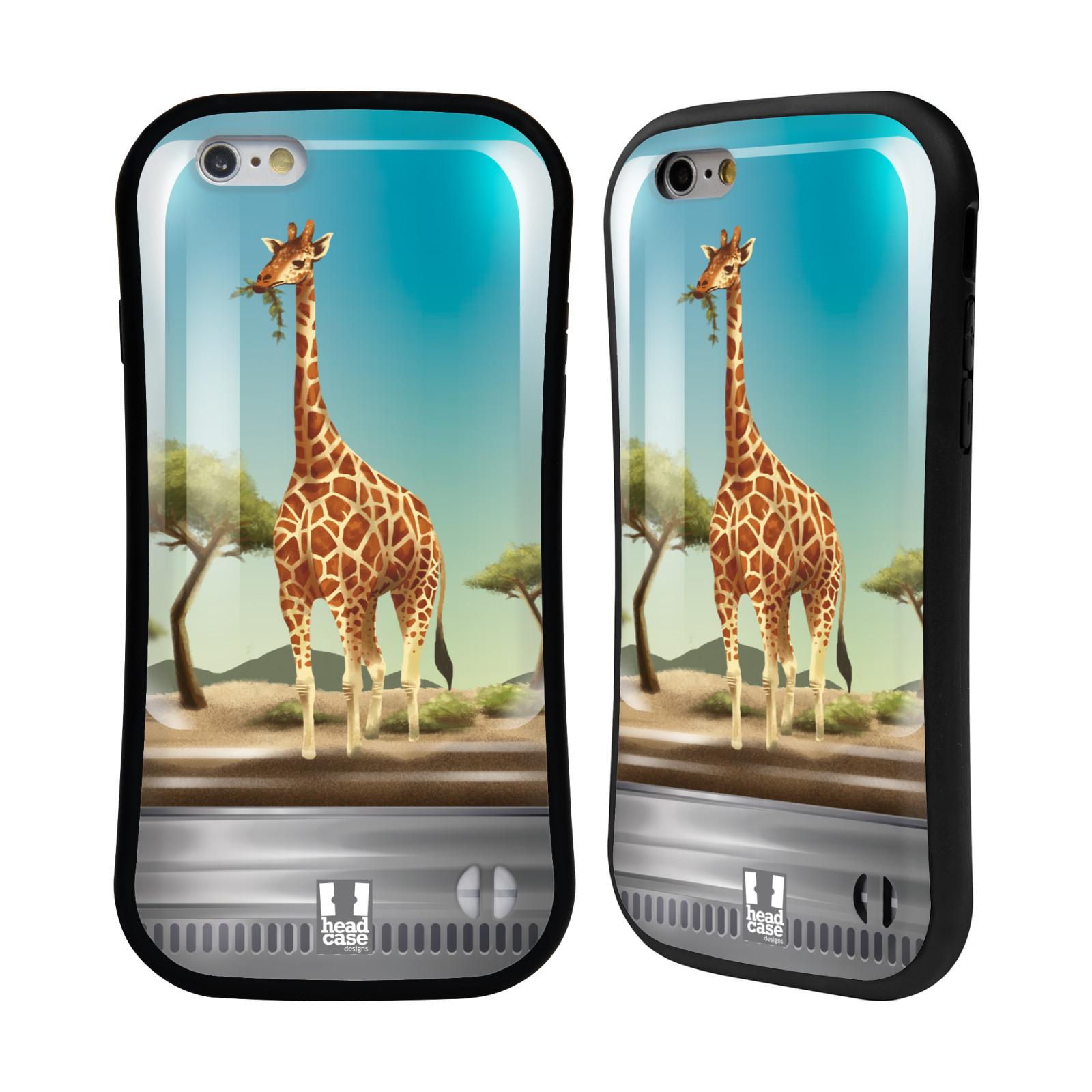HEAD CASE silikon/plast odolný obal na mobil Apple Iphone 6/6S vzor Zvířátka v těžítku žirafa