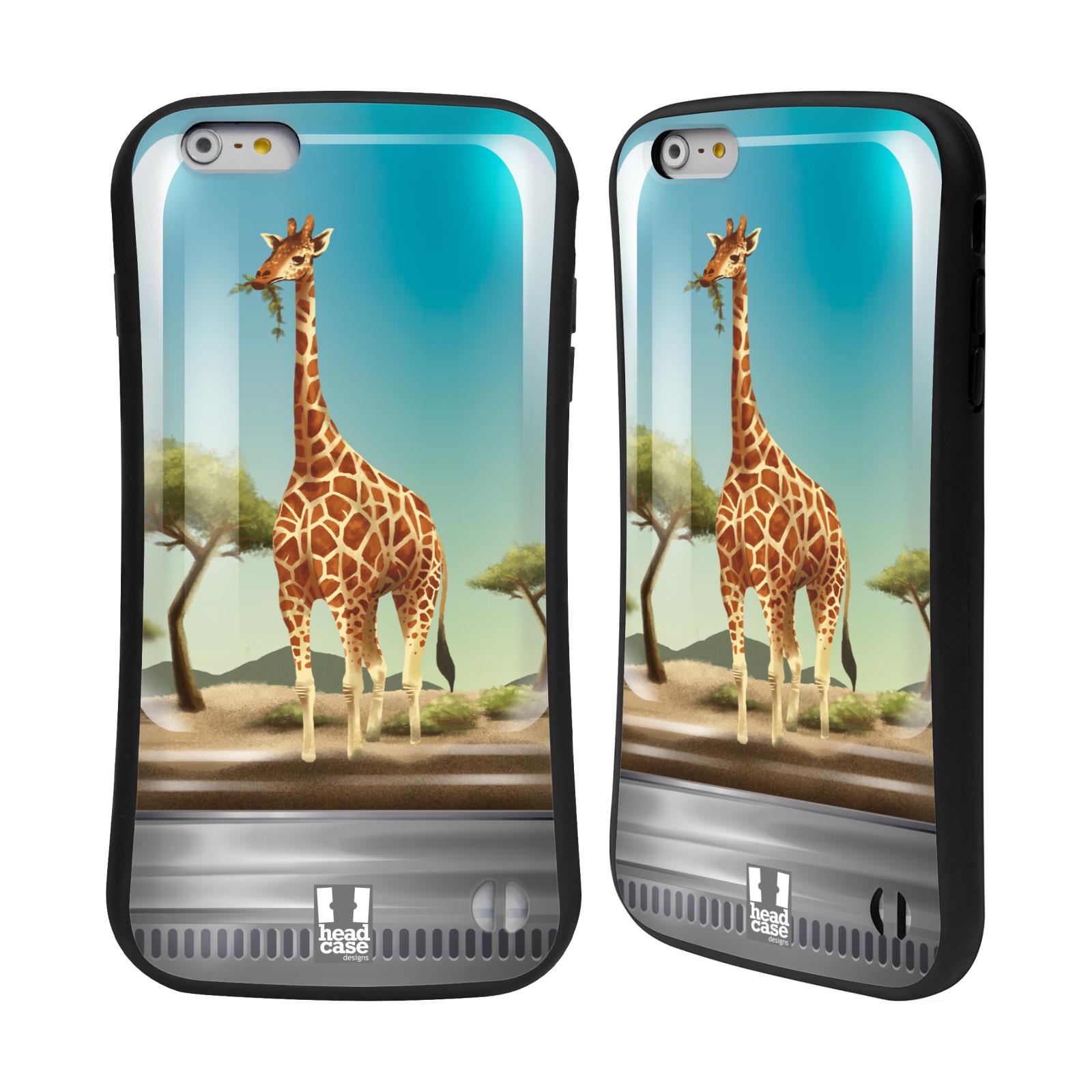 HEAD CASE silikon/plast odolný obal na mobil Apple Iphone 6 PLUS / 6S PLUS vzor Zvířátka v těžítku žirafa