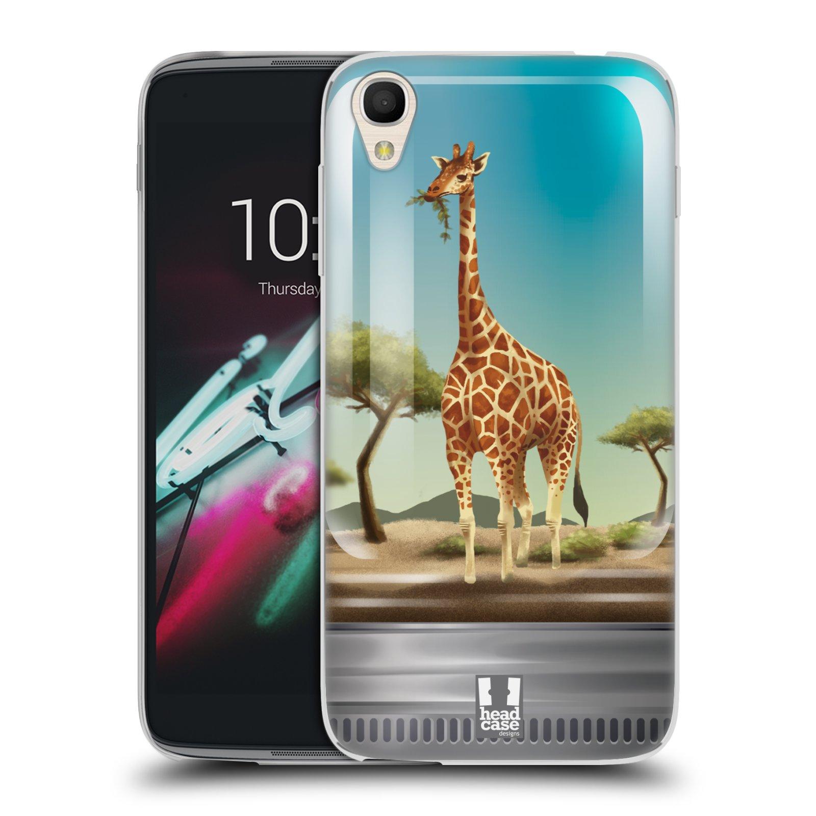 HEAD CASE silikonový obal na mobil Alcatel Idol 3 OT-6039Y (4.7) vzor Zvířátka v těžítku žirafa