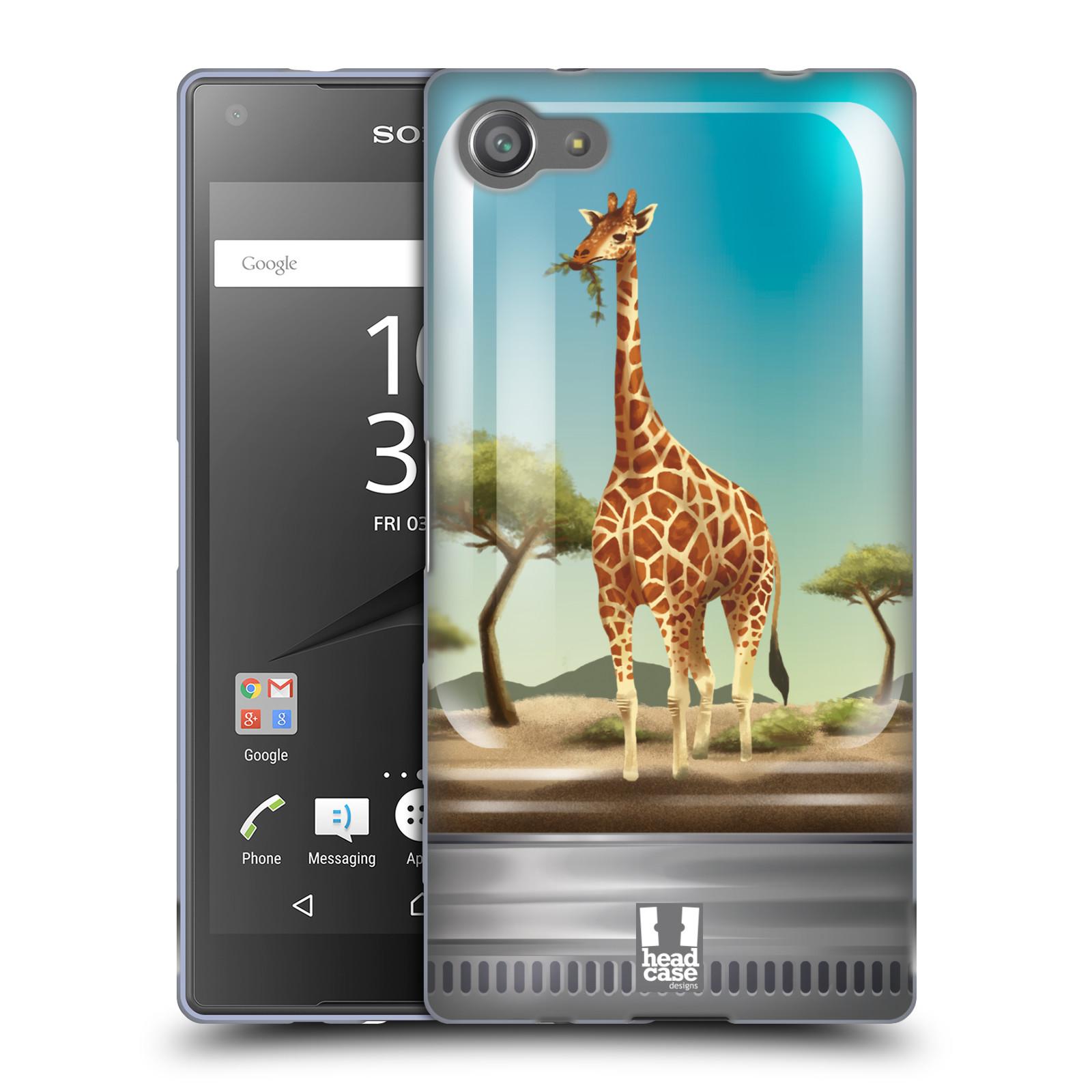 HEAD CASE silikonový obal na mobil Sony Xperia Z5 COMPACT vzor Zvířátka v těžítku žirafa