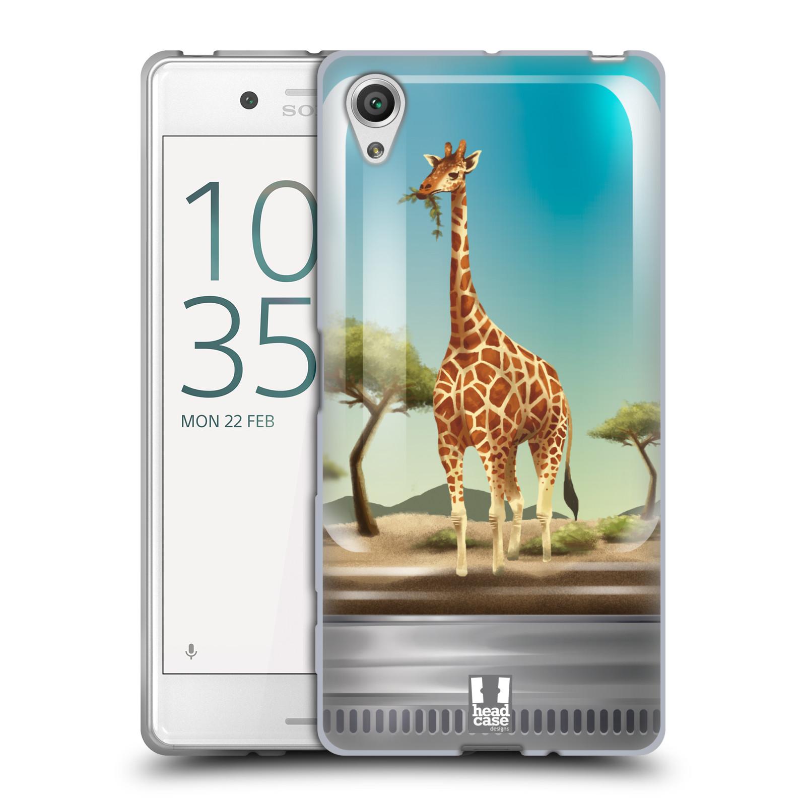 HEAD CASE silikonový obal na mobil Sony Xperia X / X DUAL vzor Zvířátka v těžítku žirafa