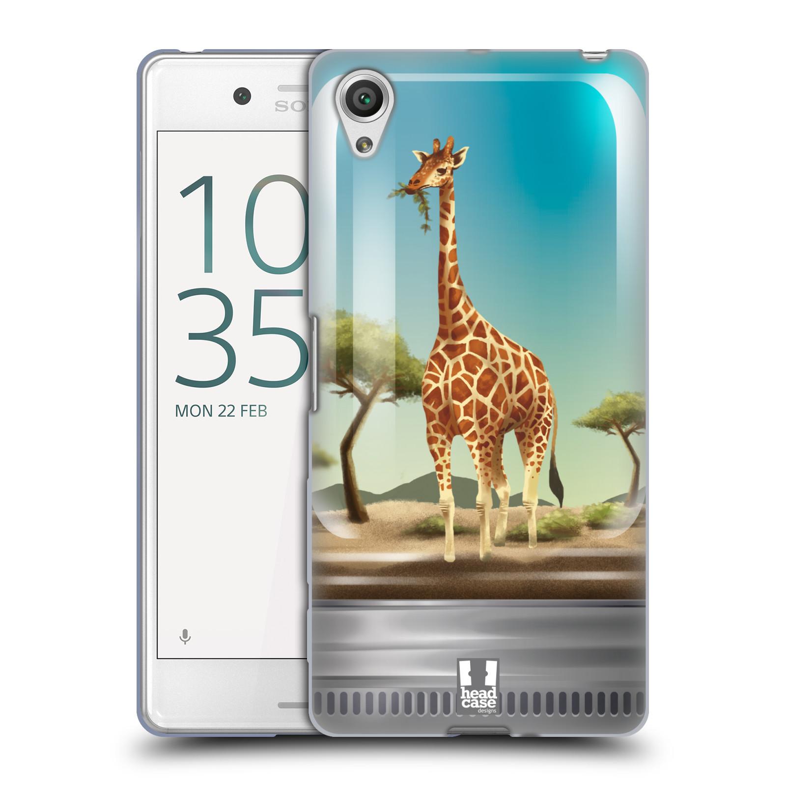 HEAD CASE silikonový obal na mobil Sony Xperia X PERFORMANCE (F8131, F8132) vzor Zvířátka v těžítku žirafa