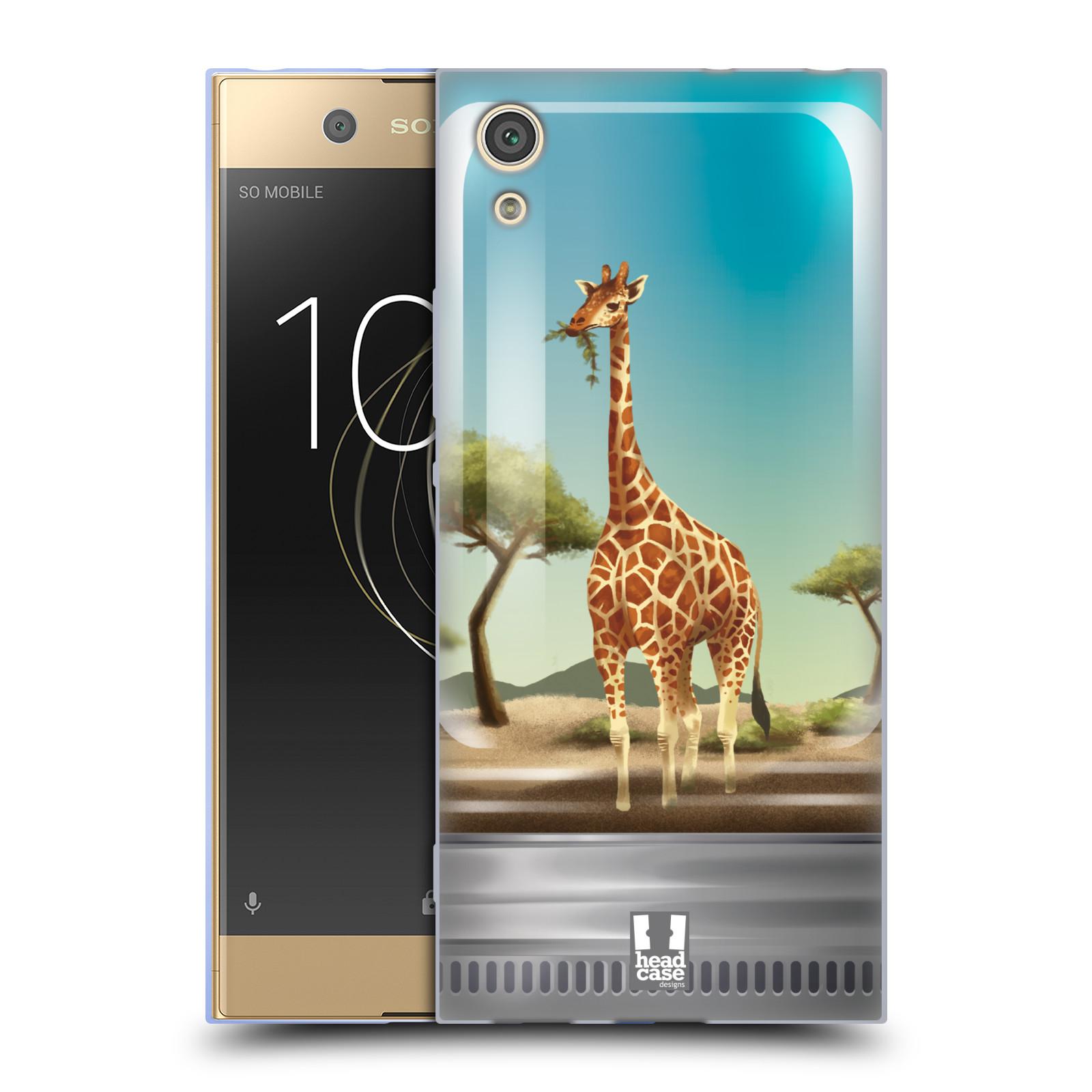 HEAD CASE silikonový obal na mobil Sony Xperia XA1 / XA1 DUAL SIM vzor Zvířátka v těžítku žirafa