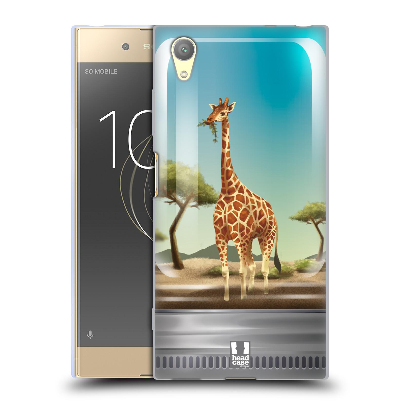 HEAD CASE silikonový obal na mobil Sony Xperia XA1 PLUS vzor Zvířátka v těžítku žirafa