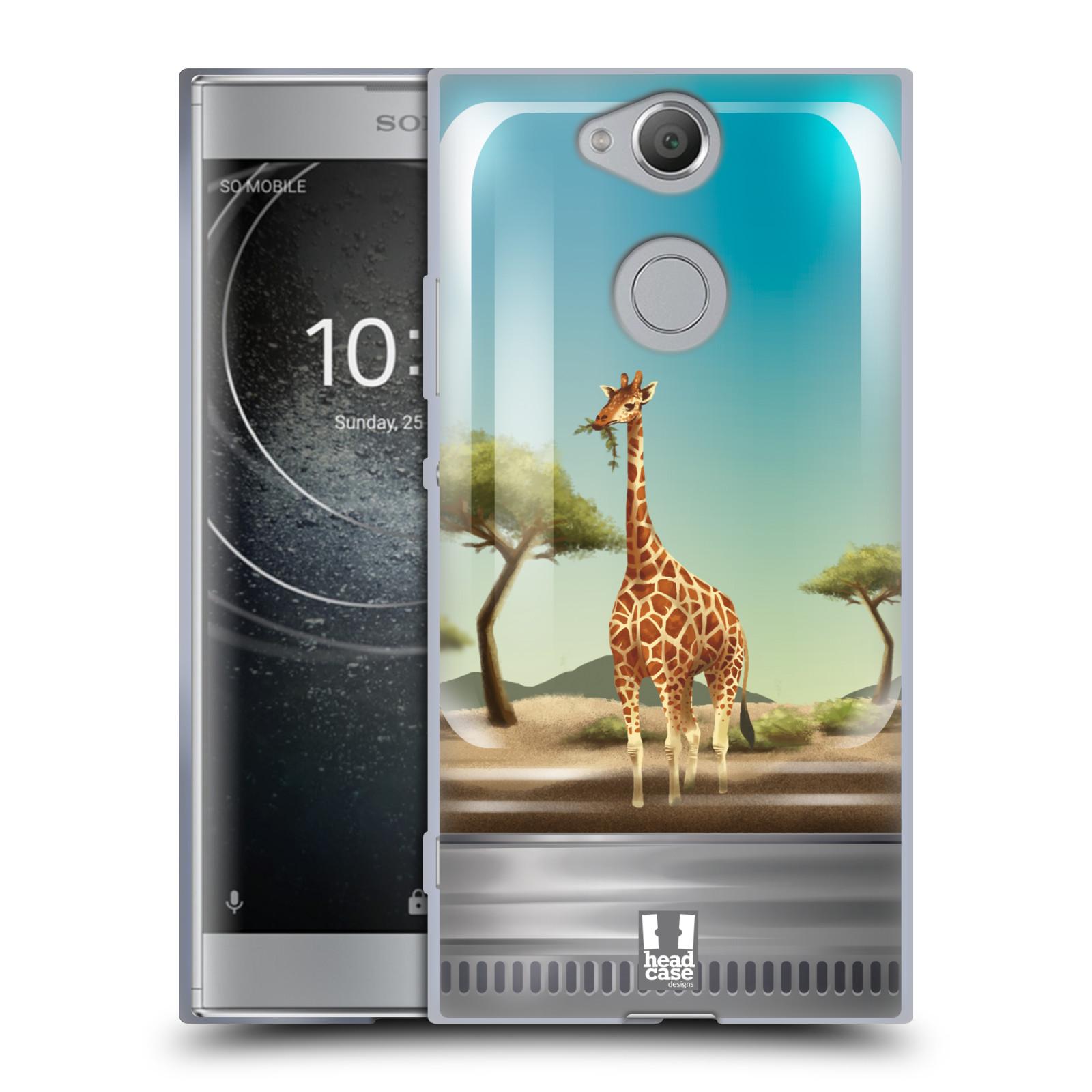 Pouzdro na mobil Sony Xperia XA2 (DUAL SIM, SINGLE SIM) vzor Zvířátka v těžítku žirafa