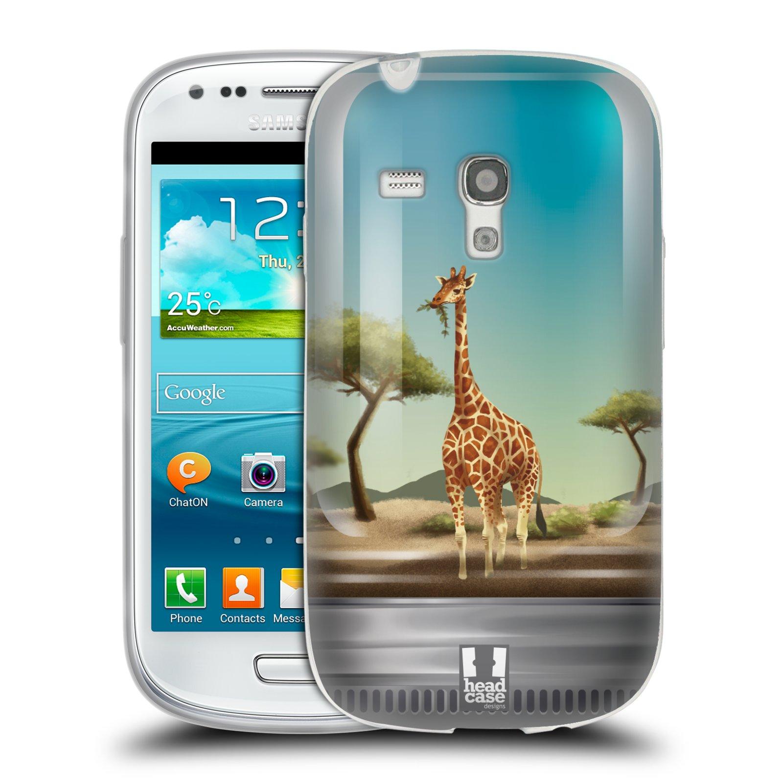 HEAD CASE silikonový obal na mobil Samsung Galaxy S3 MINI i8190 vzor Zvířátka v těžítku žirafa