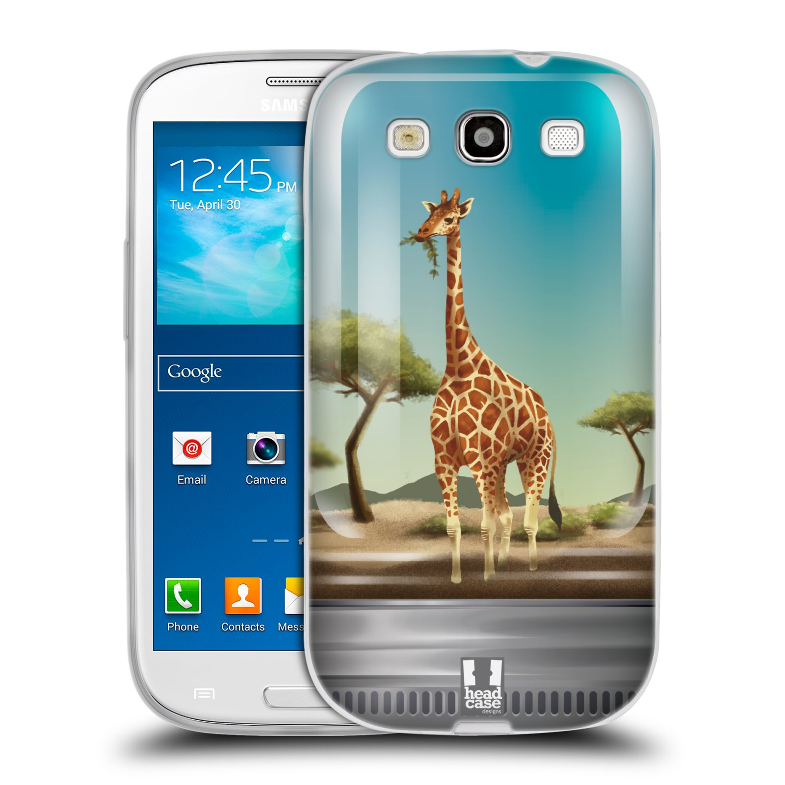 HEAD CASE silikonový obal na mobil Samsung Galaxy S3 i9300 vzor Zvířátka v těžítku žirafa