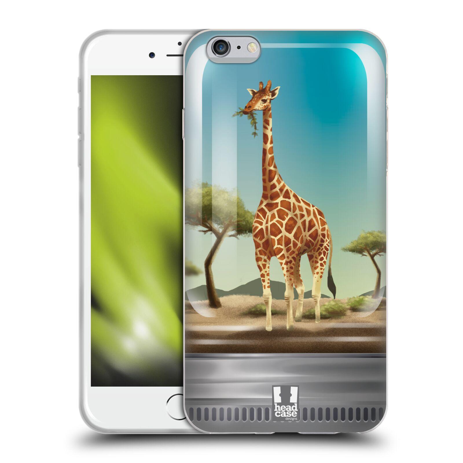HEAD CASE silikonový obal na mobil Apple Iphone 6 PLUS/ 6S PLUS vzor Zvířátka v těžítku žirafa