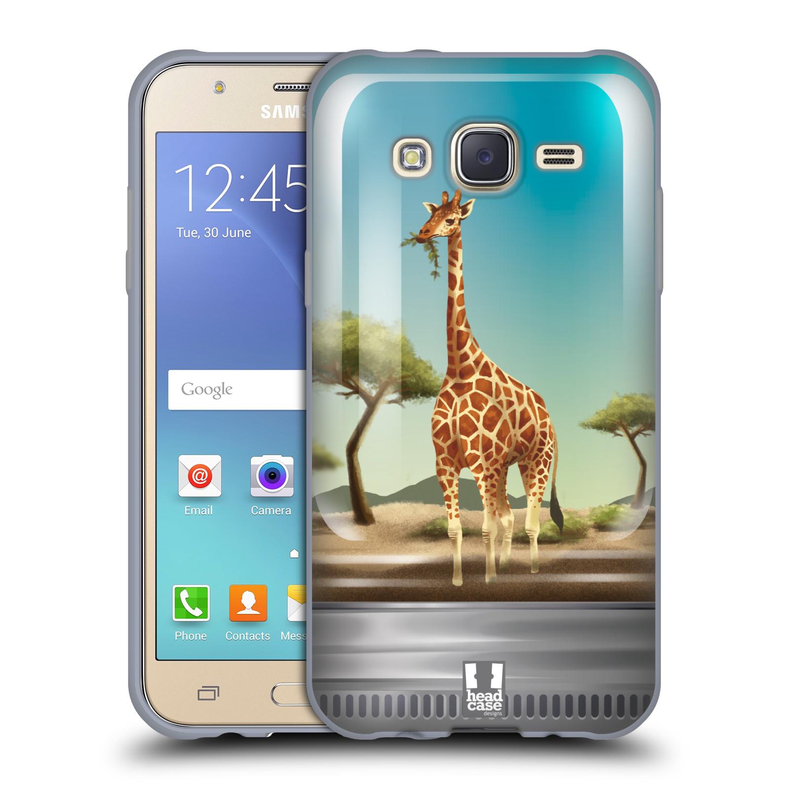 HEAD CASE silikonový obal na mobil Samsung Galaxy J5, J500, (J5 DUOS) vzor Zvířátka v těžítku žirafa