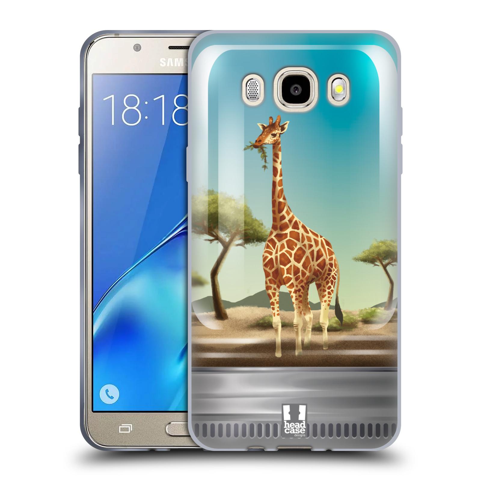 HEAD CASE silikonový obal, kryt na mobil Samsung Galaxy J5 2016, J510, J510F, (J510F DUAL SIM) vzor Zvířátka v těžítku žirafa