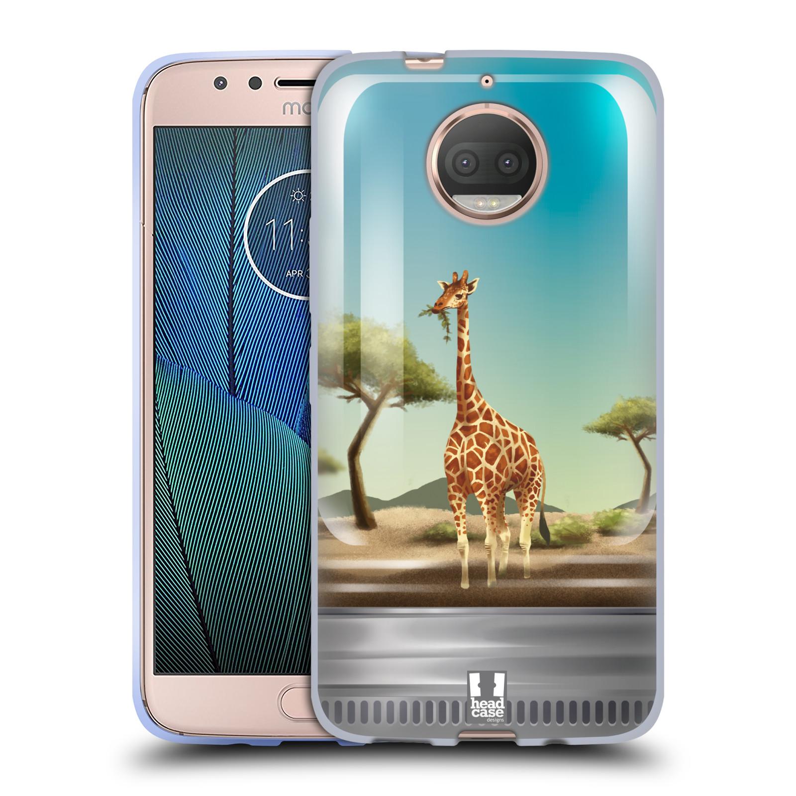HEAD CASE silikonový obal na mobil Lenovo Moto G5s PLUS vzor Zvířátka v těžítku žirafa