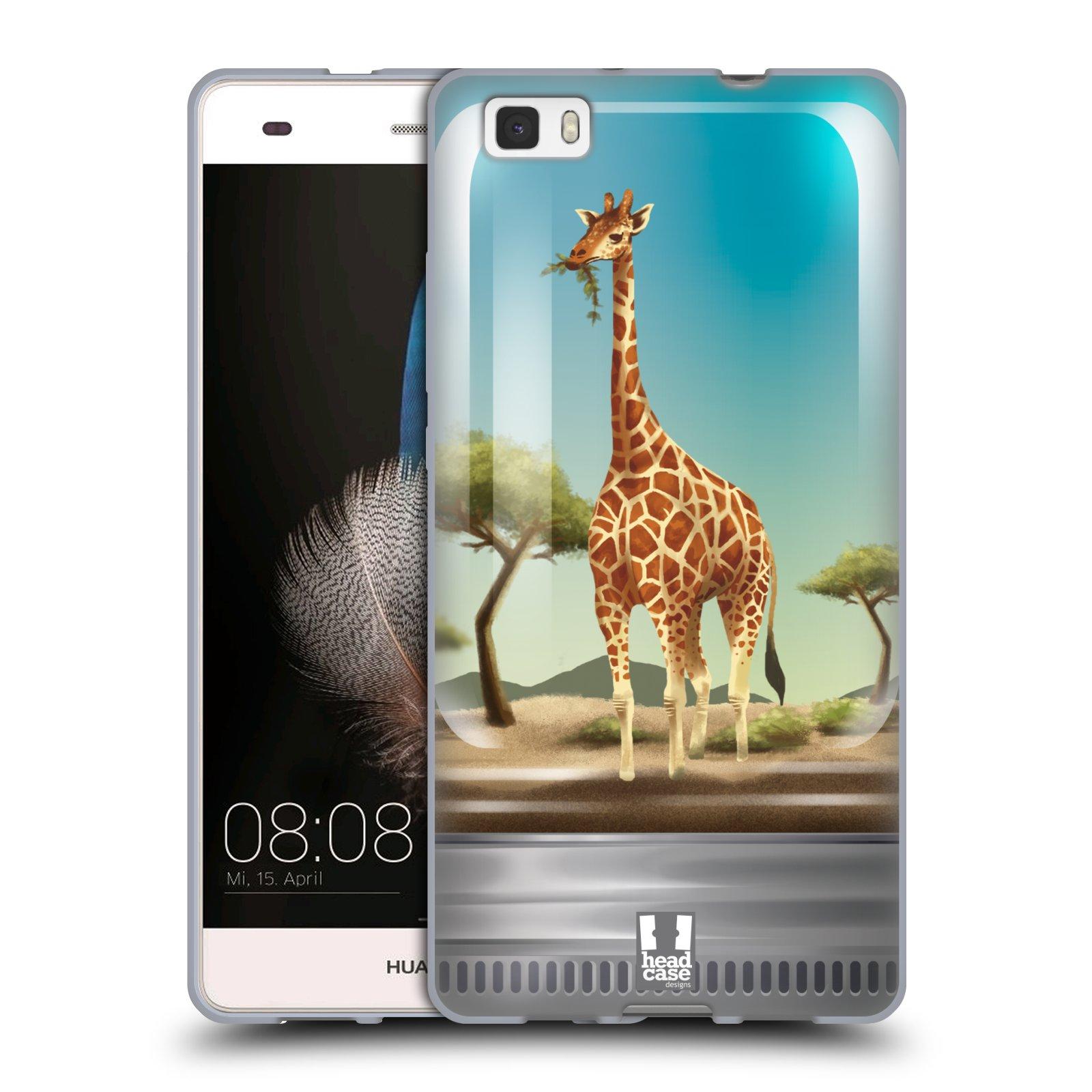 HEAD CASE silikonový obal na mobil HUAWEI P8 LITE vzor Zvířátka v těžítku žirafa