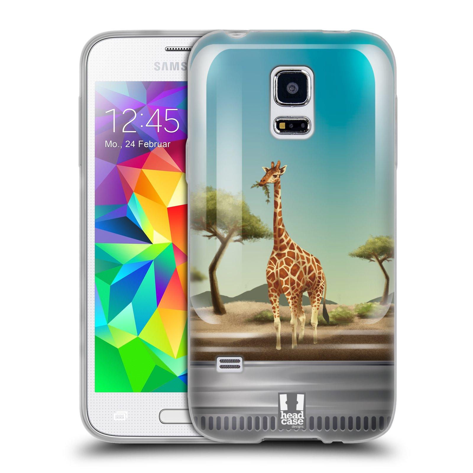 HEAD CASE silikonový obal na mobil Samsung Galaxy S5 MINI vzor Zvířátka v těžítku žirafa