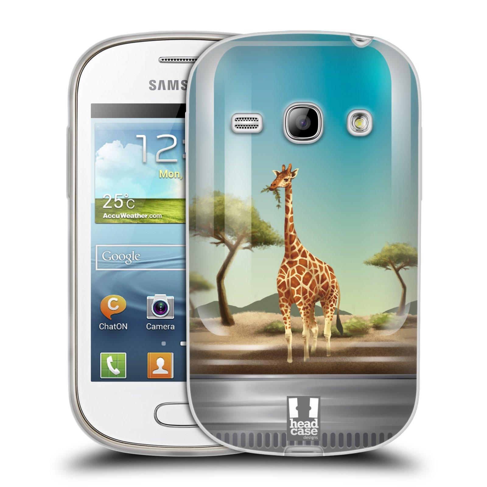HEAD CASE silikonový obal na mobil Samsung Galaxy FAME vzor Zvířátka v těžítku žirafa