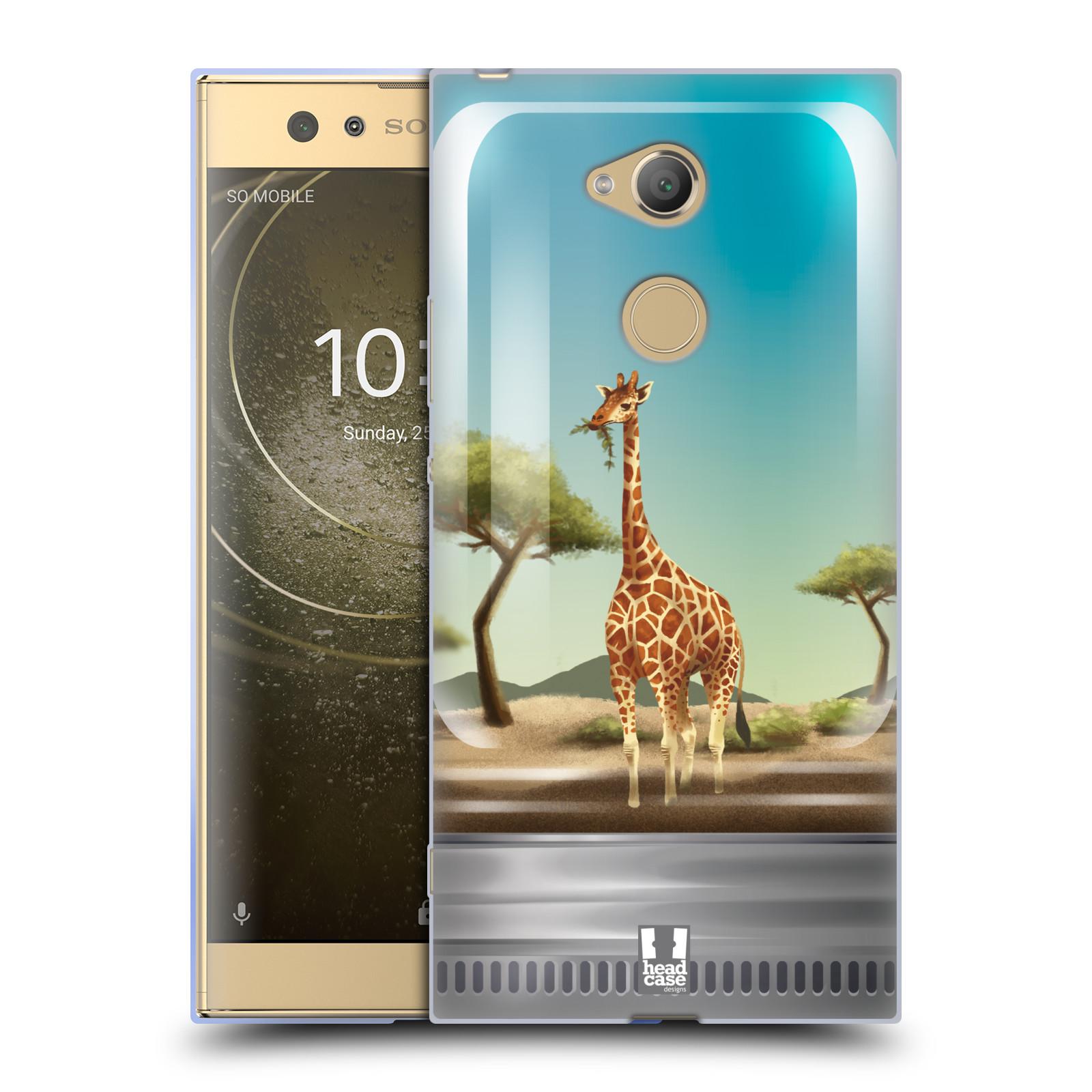 Pouzdro na mobil Sony Xperia XA2 Ultra vzor Zvířátka v těžítku žirafa