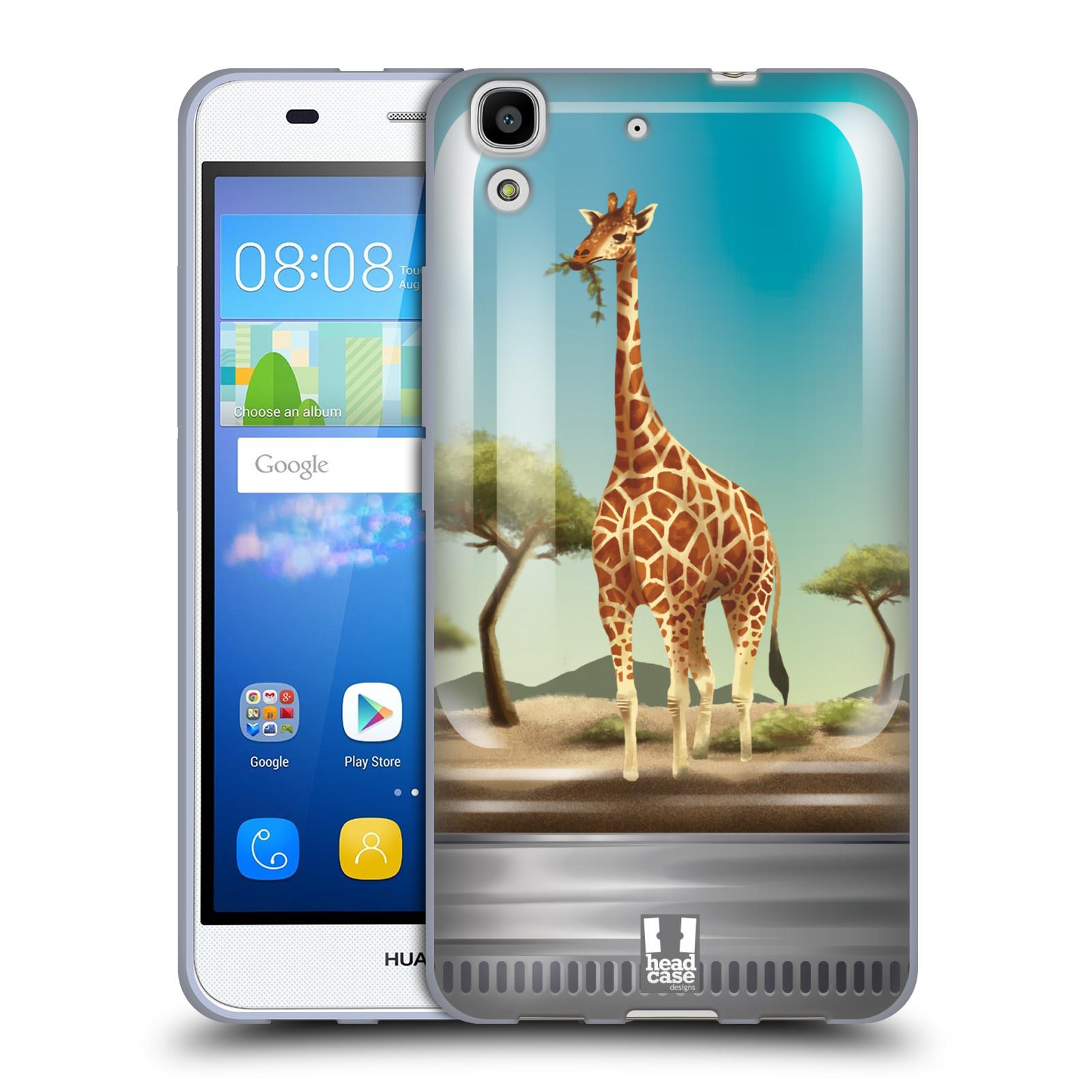 HEAD CASE silikonový obal na mobil HUAWEI Y6 vzor Zvířátka v těžítku žirafa