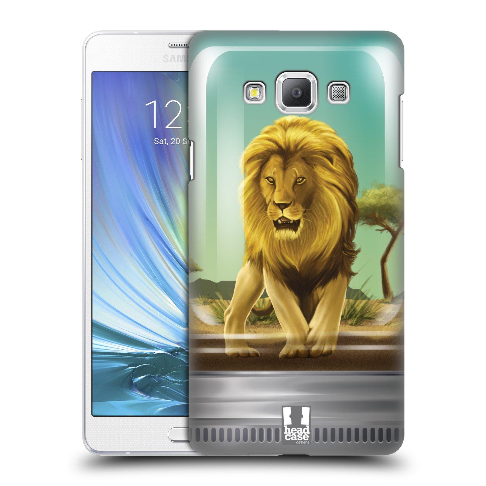 HEAD CASE plastový obal na mobil SAMSUNG GALAXY A7 vzor Zvířátka v těžítku lev