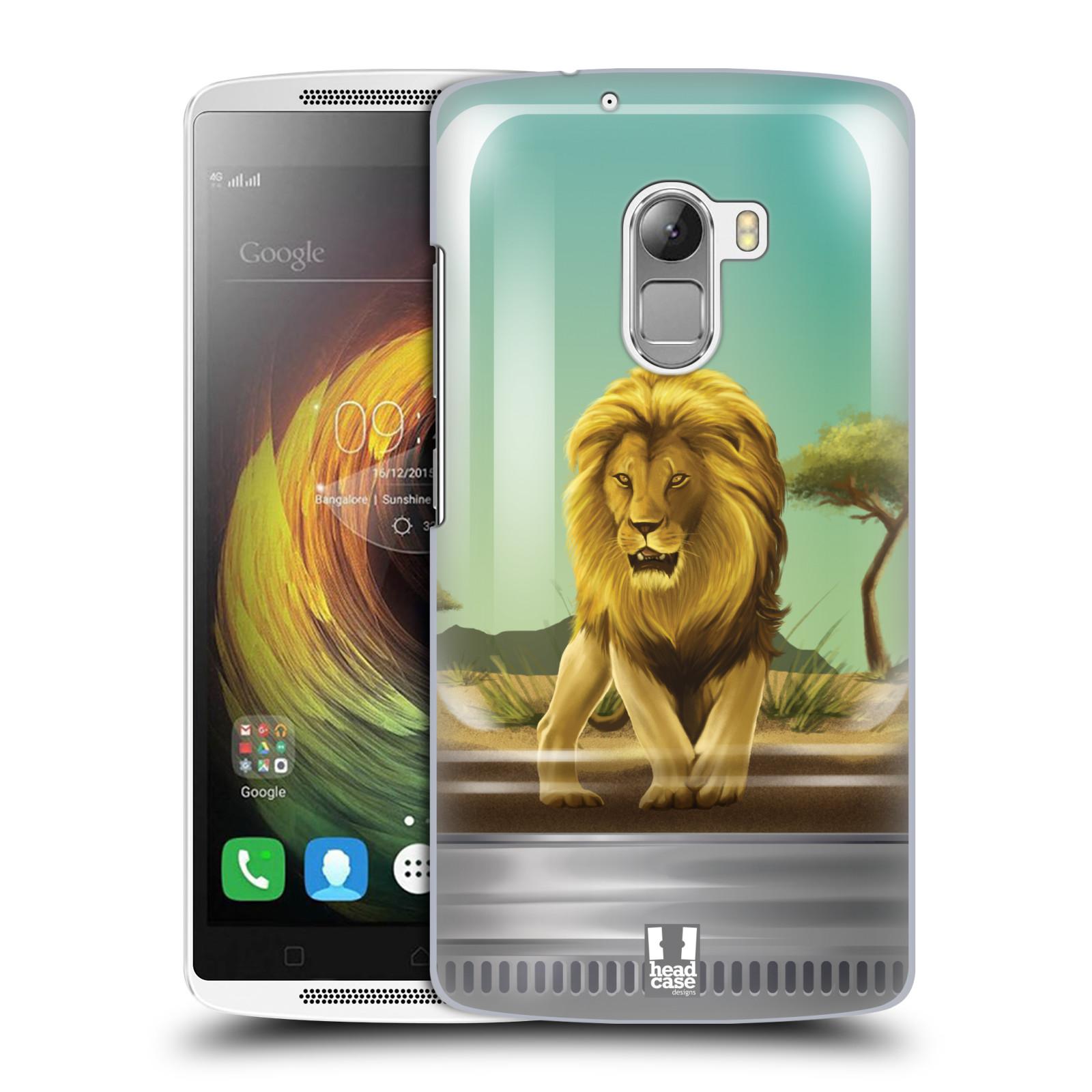 HEAD CASE pevný plastový obal na mobil LENOVO A7010 / A7010 DUAL / K4 Note / Vibe X3 lite vzor Zvířátka v těžítku lev
