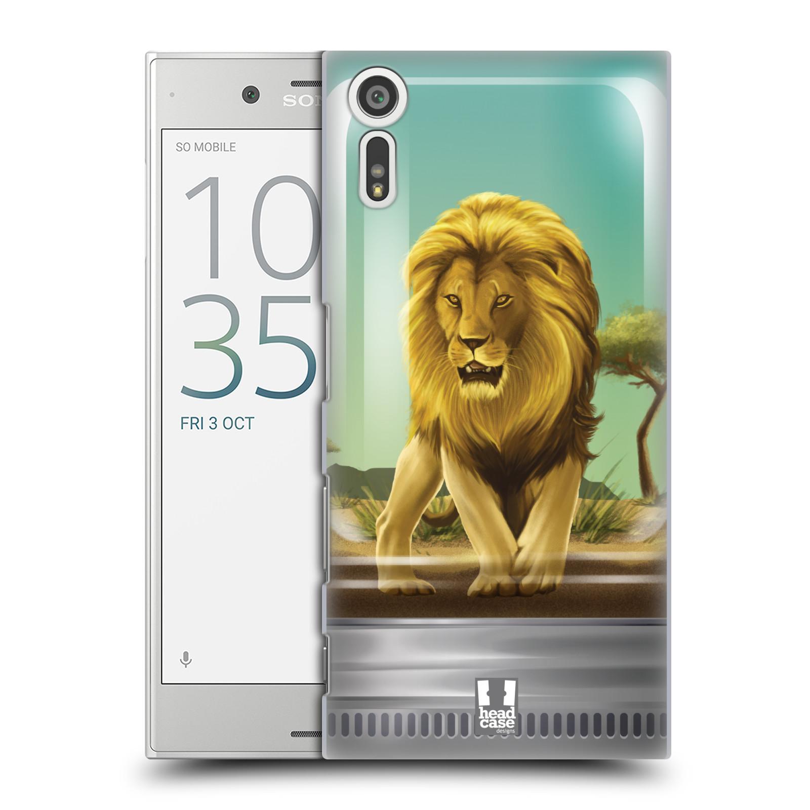 HEAD CASE plastový obal na mobil Sony Xperia XZ vzor Zvířátka v těžítku lev
