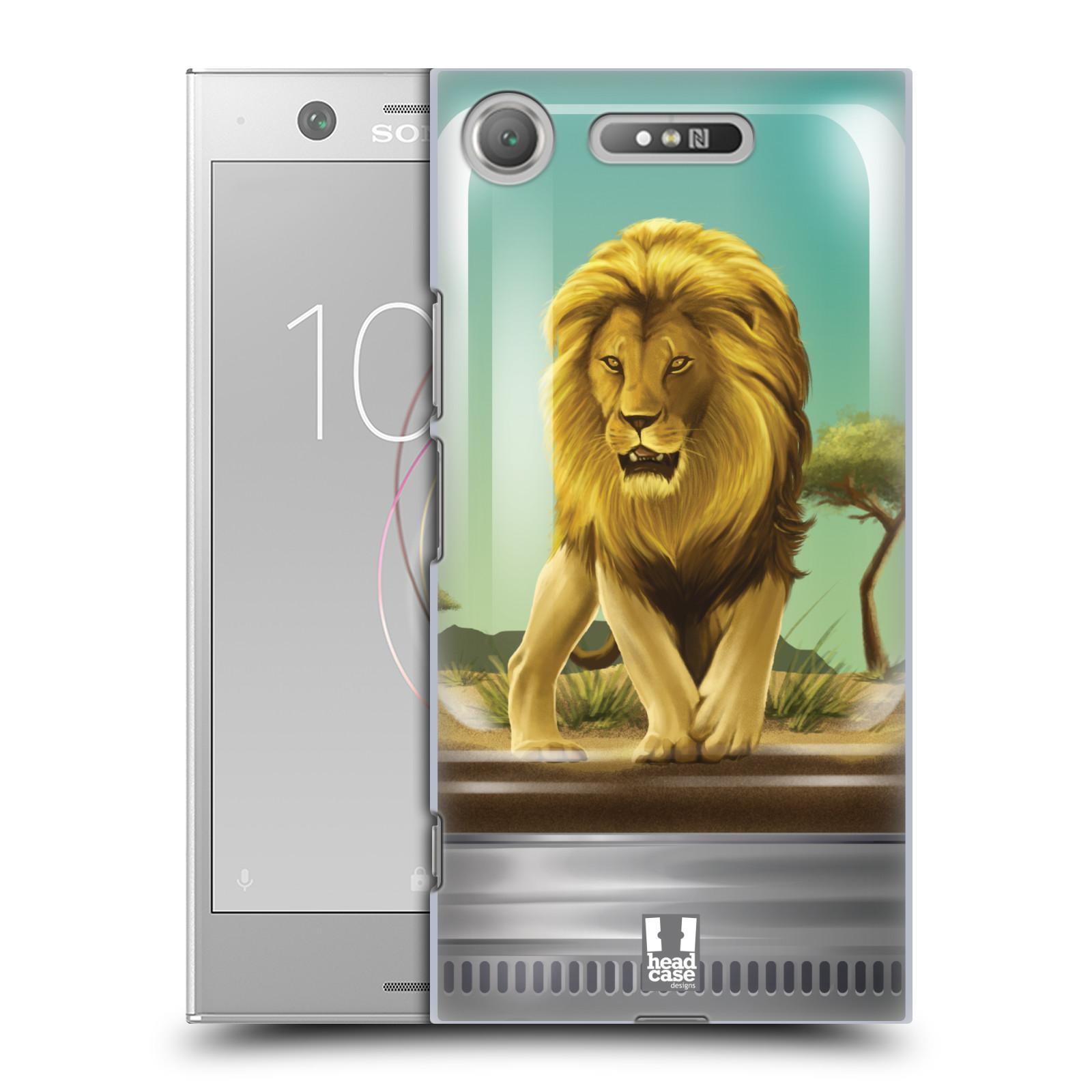 HEAD CASE plastový obal na mobil Sony Xperia XZ1 vzor Zvířátka v těžítku lev