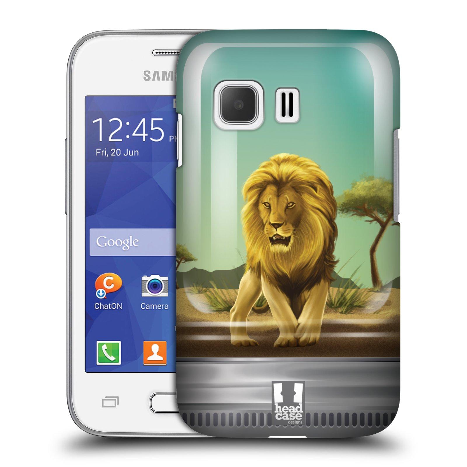 HEAD CASE plastový obal na mobil SAMSUNG Galaxy Young 2 (G130) vzor Zvířátka v těžítku lev