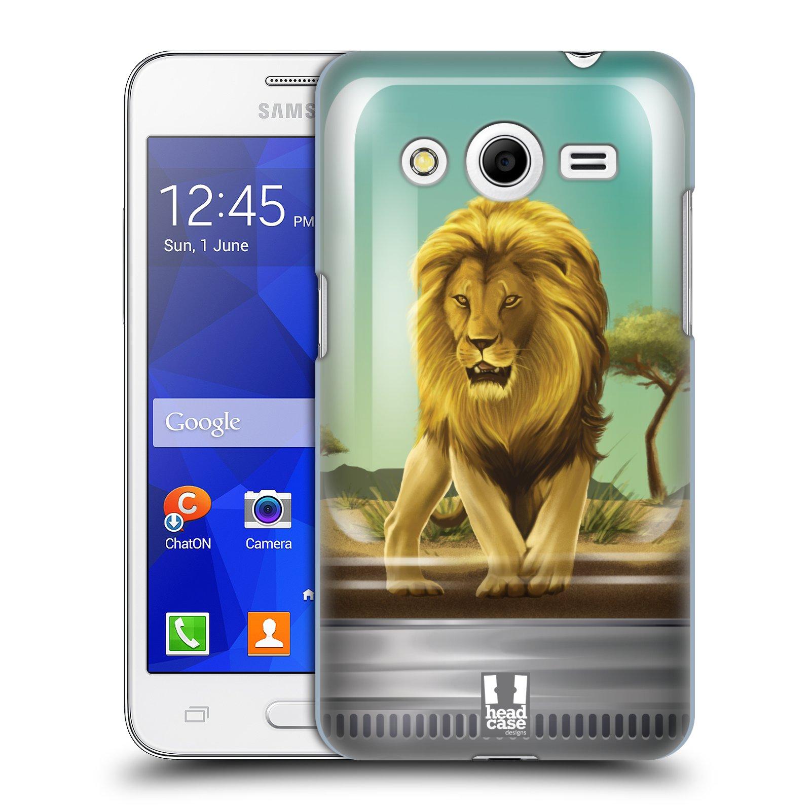 HEAD CASE plastový obal na mobil SAMSUNG GALAXY Core 2 (G355H) vzor Zvířátka v těžítku lev