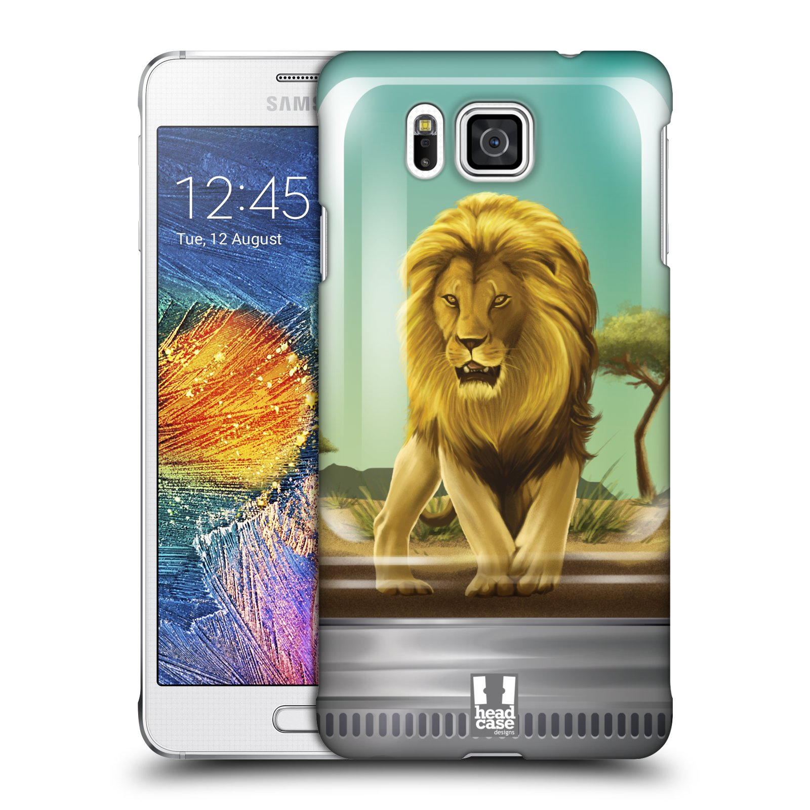 HEAD CASE plastový obal na mobil SAMSUNG Galaxy Alpha (G850) vzor Zvířátka v těžítku lev