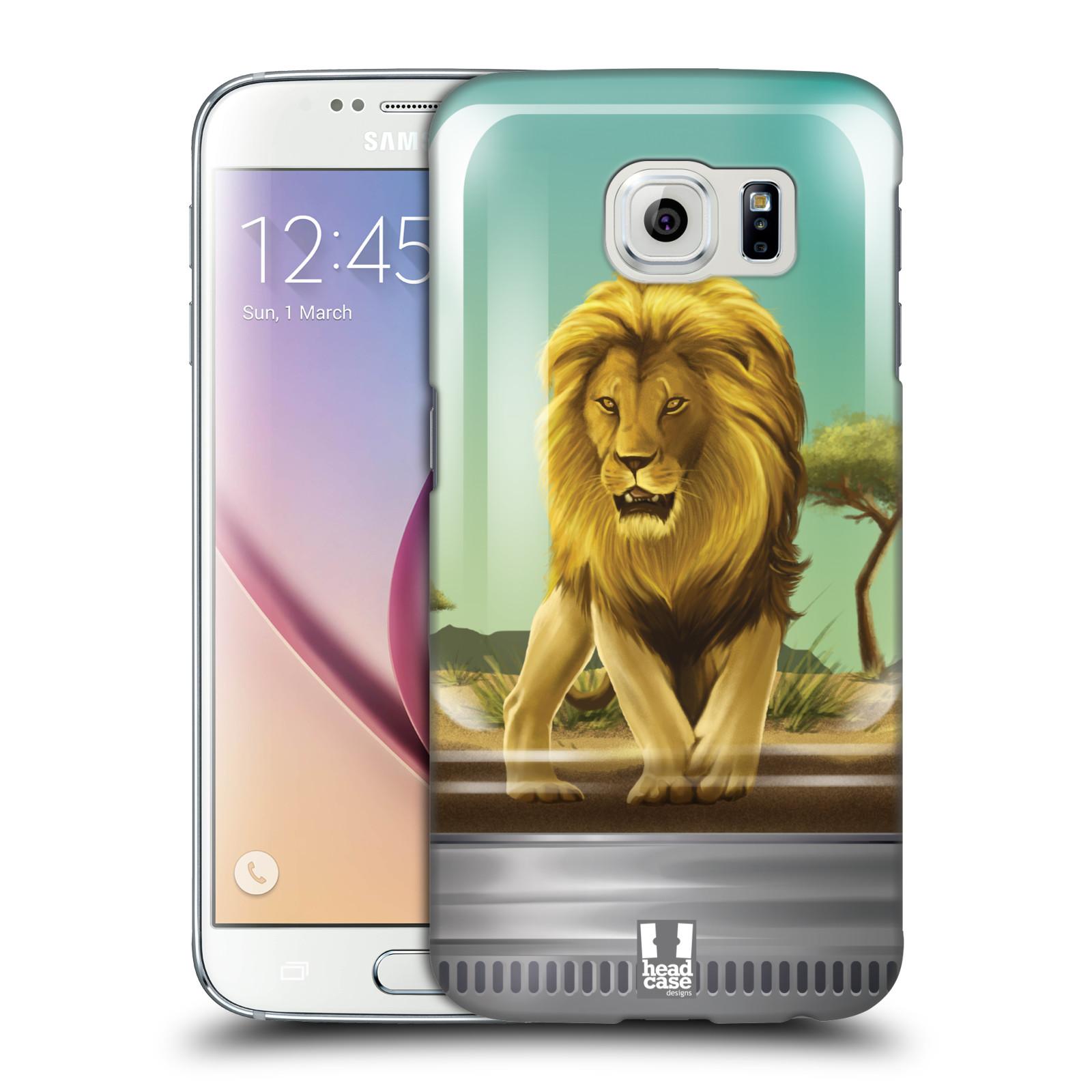 HEAD CASE plastový obal na mobil SAMSUNG Galaxy S6 (G9200, G920F) vzor Zvířátka v těžítku lev