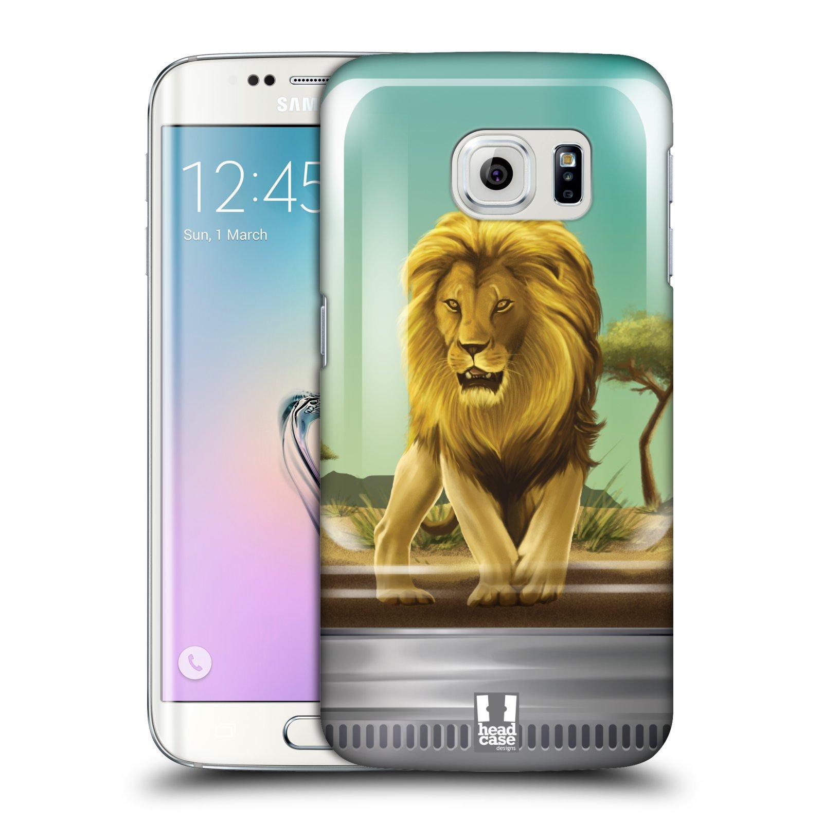 HEAD CASE plastový obal na mobil SAMSUNG Galaxy S6 EDGE (G9250, G925, G925F) vzor Zvířátka v těžítku lev