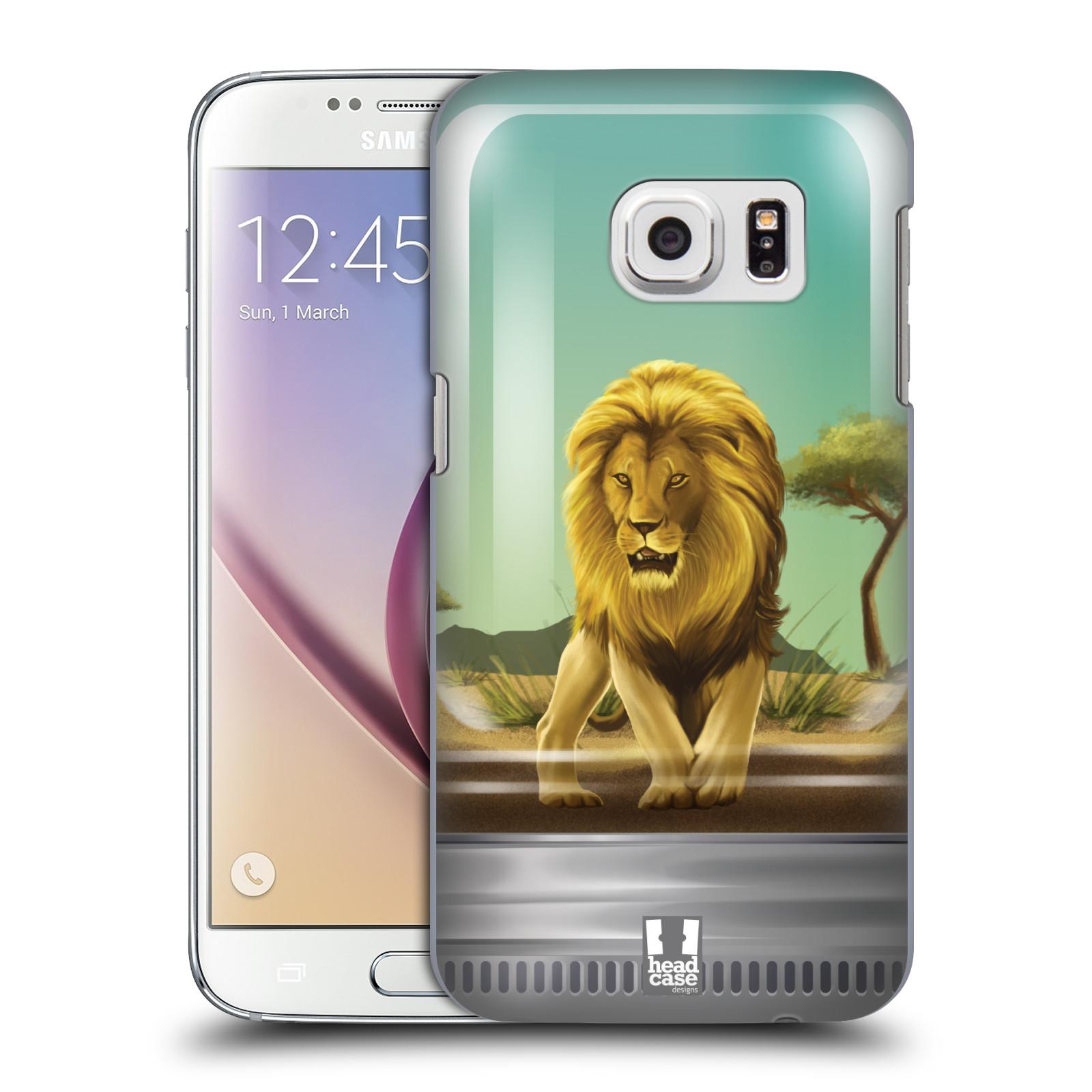 HEAD CASE plastový obal na mobil SAMSUNG GALAXY S7 vzor Zvířátka v těžítku lev