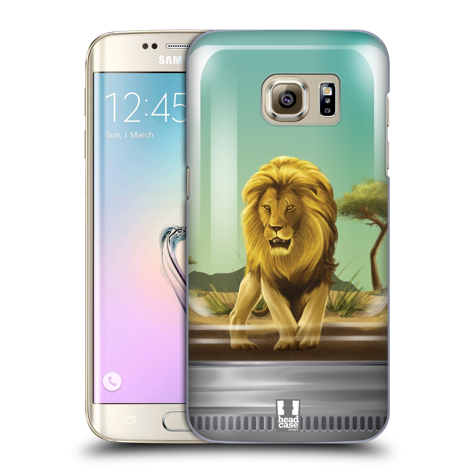 HEAD CASE plastový obal na mobil SAMSUNG GALAXY S7 EDGE vzor Zvířátka v těžítku lev