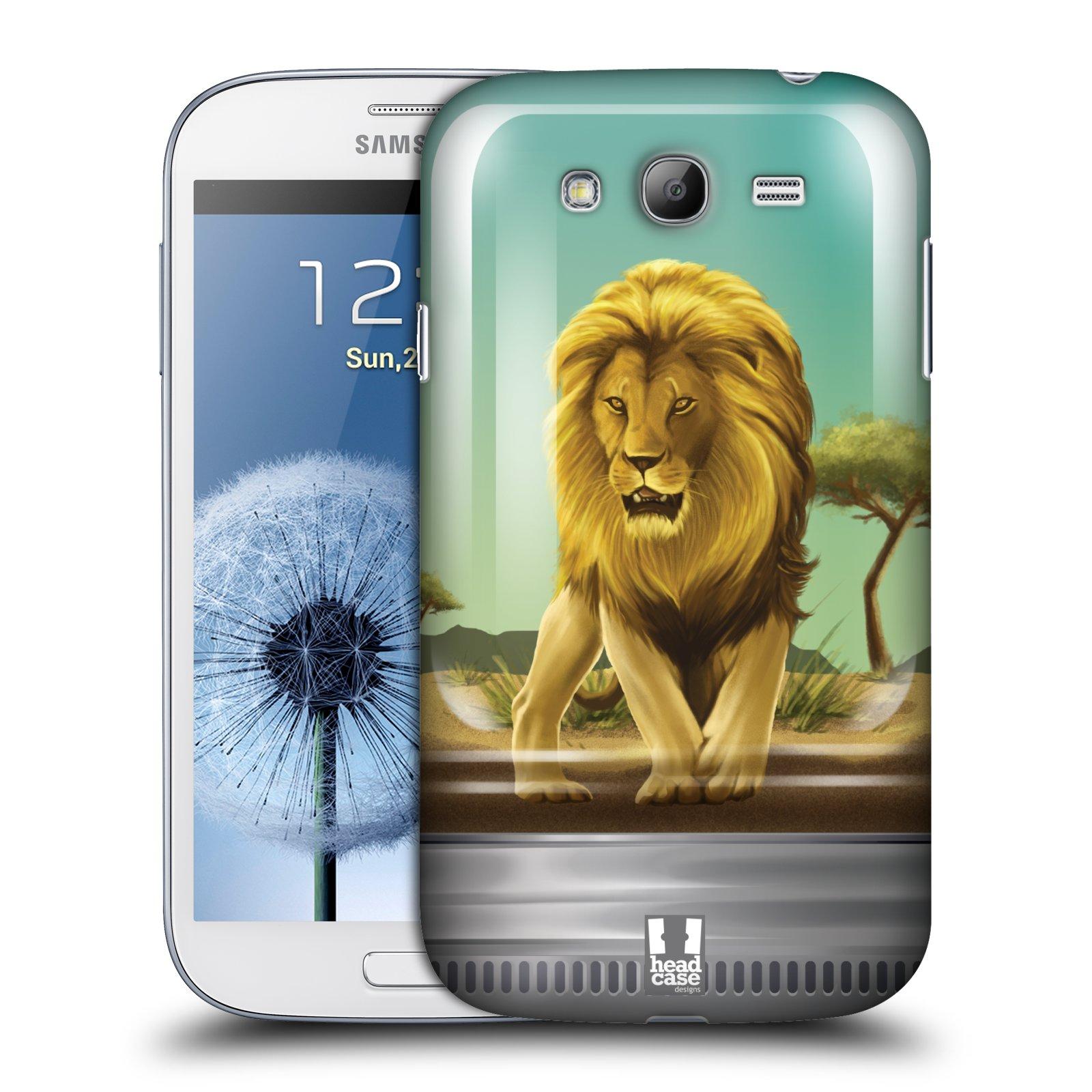 HEAD CASE plastový obal na mobil SAMSUNG GALAXY Grand i9080 vzor Zvířátka v těžítku lev