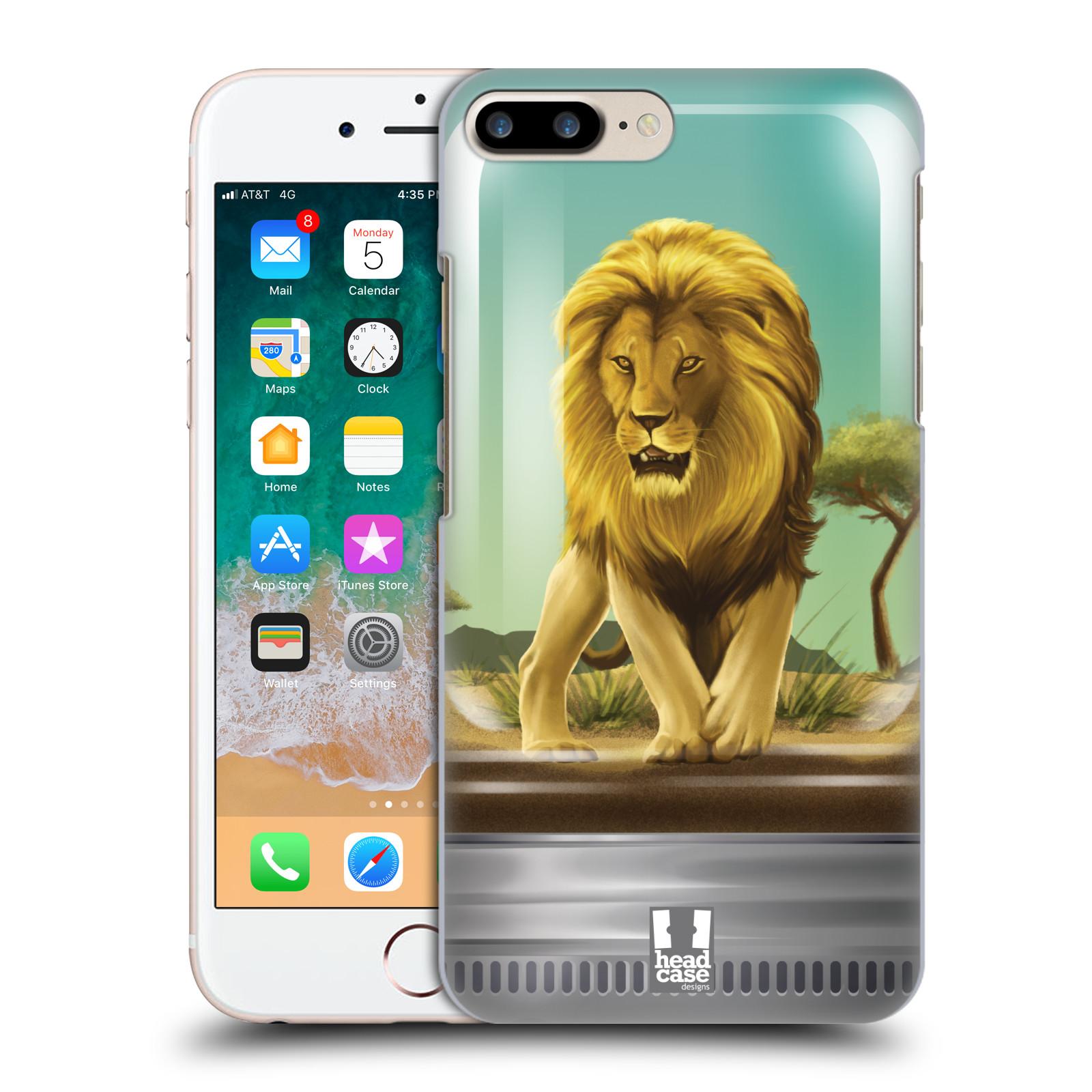 HEAD CASE plastový obal na mobil Apple Iphone 7 PLUS vzor Zvířátka v těžítku lev