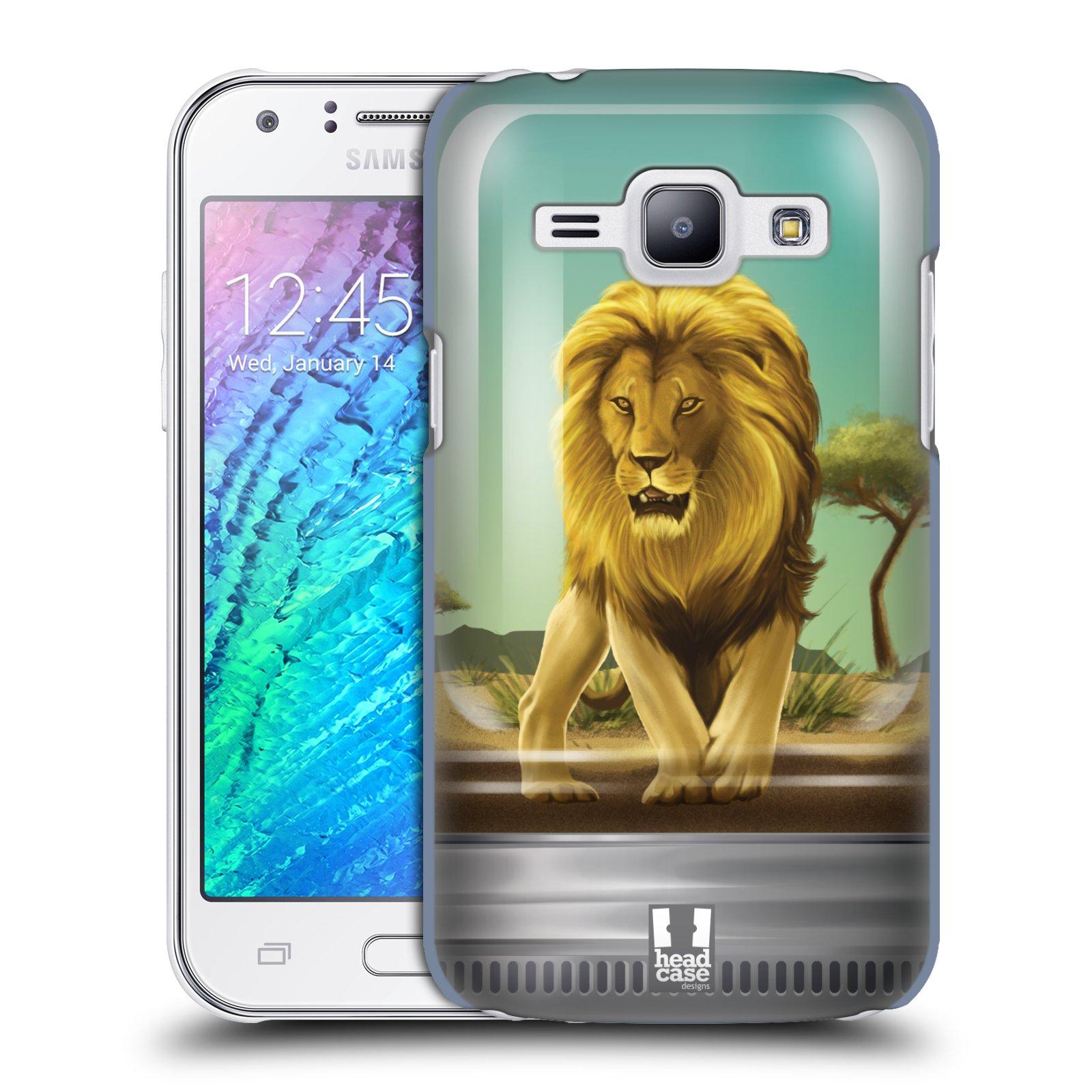 HEAD CASE plastový obal na mobil SAMSUNG Galaxy J1, J100 vzor Zvířátka v těžítku lev