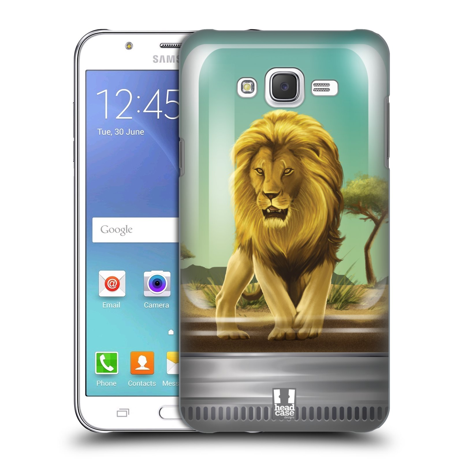 HEAD CASE plastový obal na mobil SAMSUNG Galaxy J7, J700 vzor Zvířátka v těžítku lev