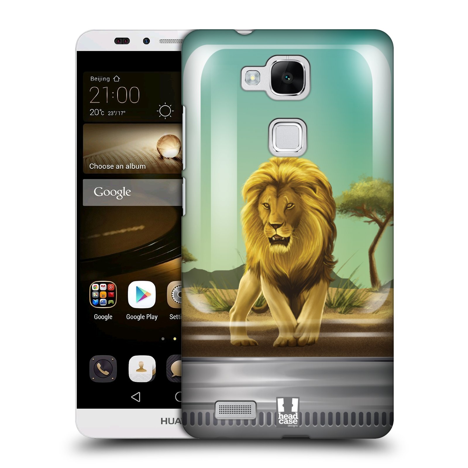 HEAD CASE plastový obal na mobil Huawei Mate 7 vzor Zvířátka v těžítku lev