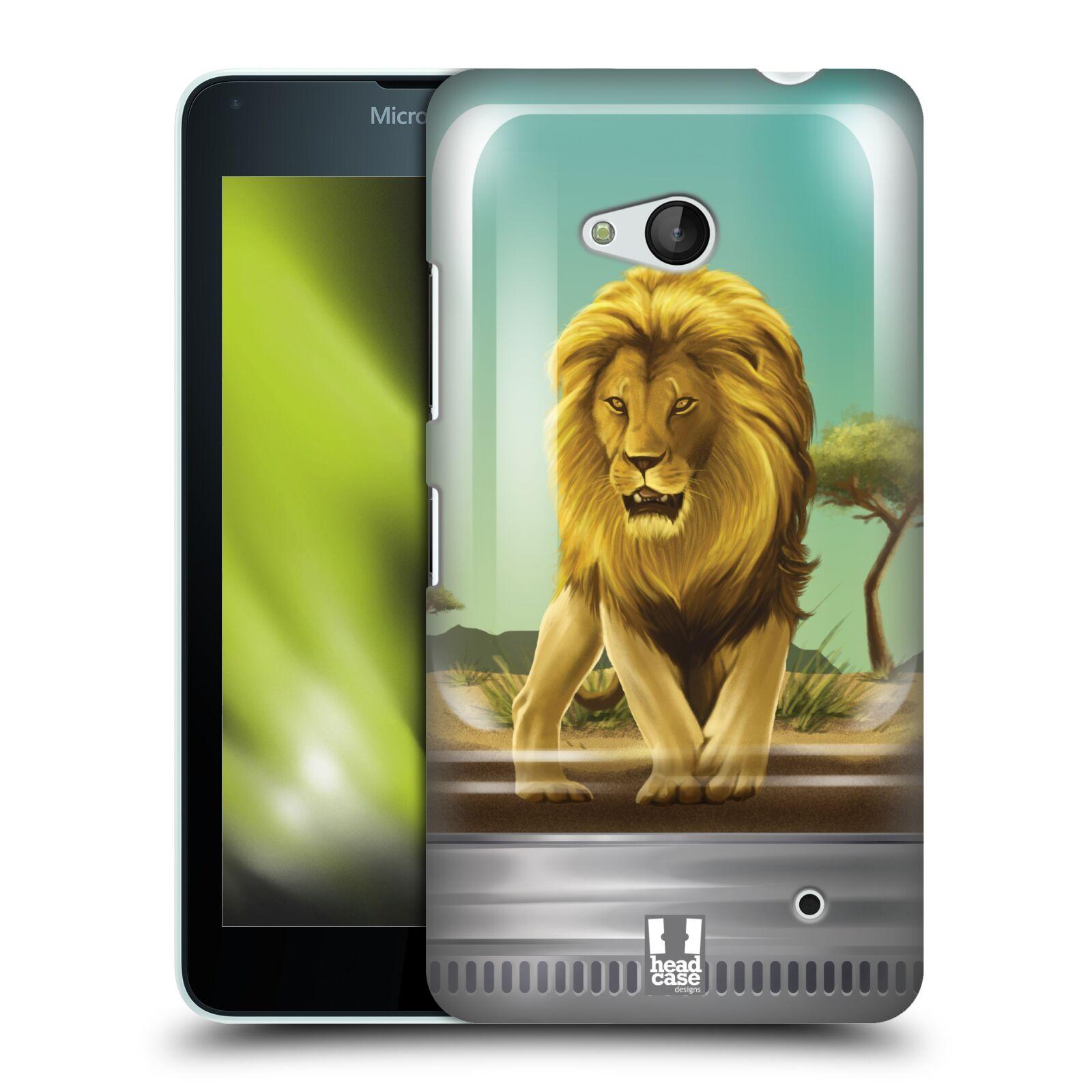 HEAD CASE plastový obal na mobil Nokia Lumia 640 vzor Zvířátka v těžítku lev