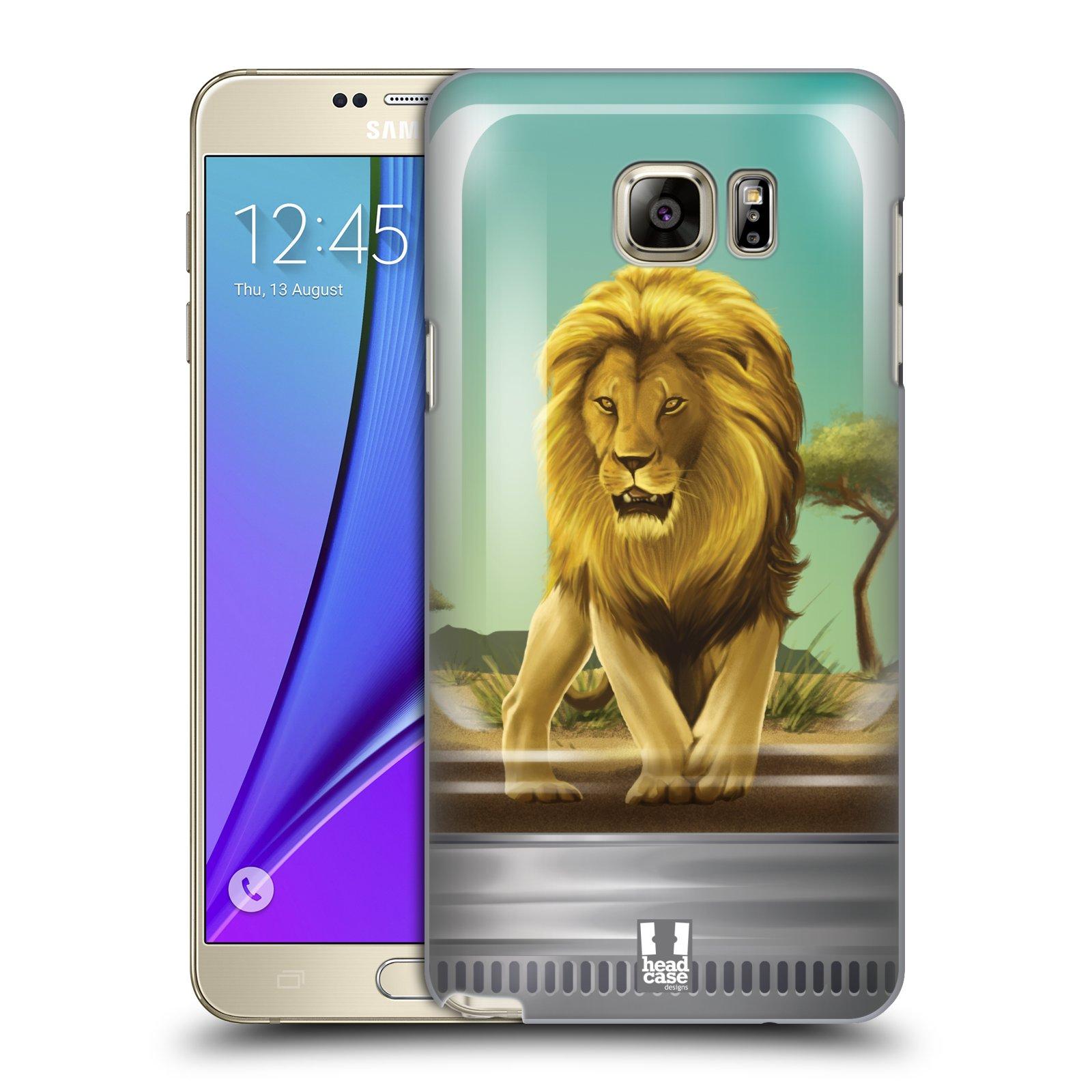 HEAD CASE plastový obal na mobil SAMSUNG Galaxy Note 5 (N920) vzor Zvířátka v těžítku lev