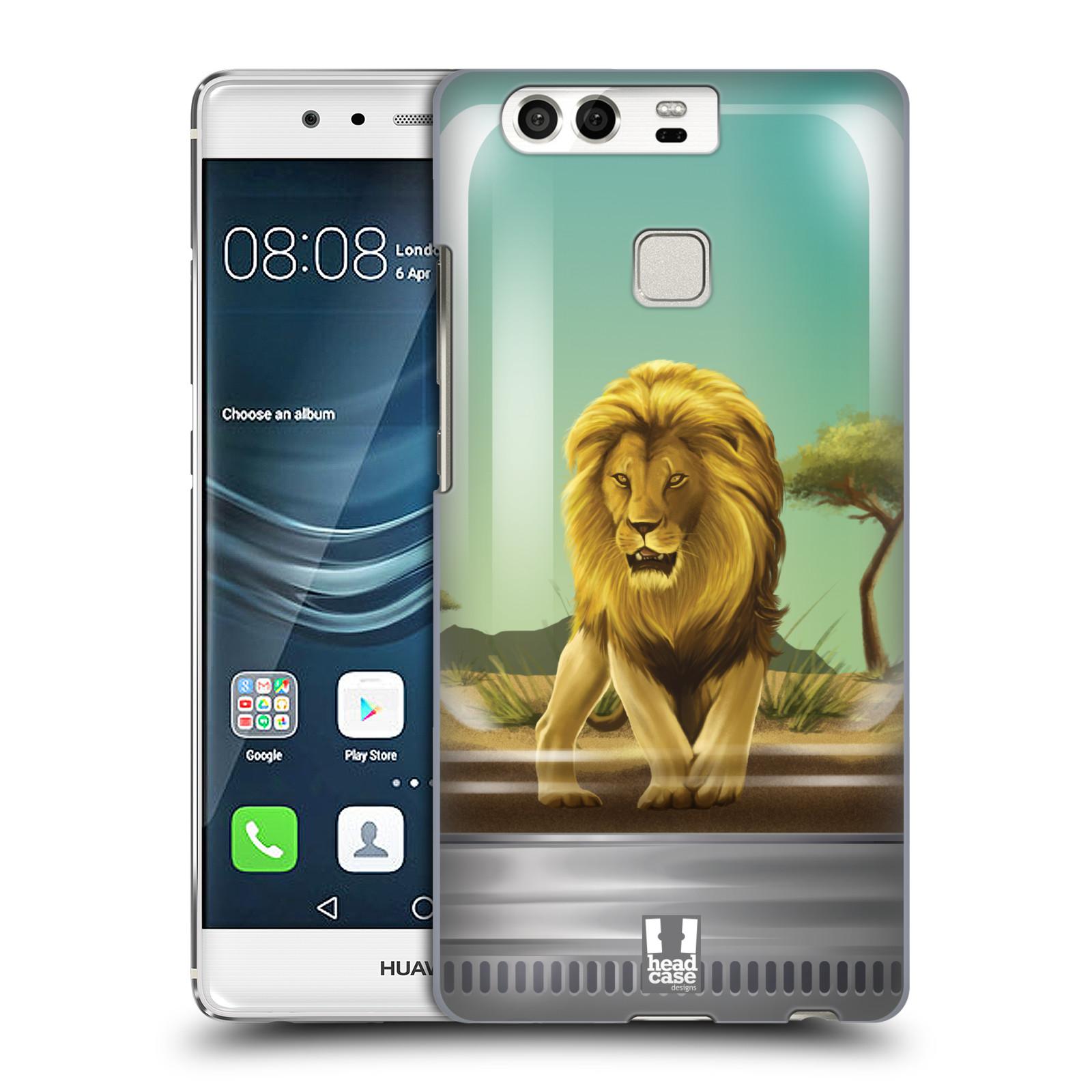 HEAD CASE plastový obal na mobil Huawei P9 / P9 DUAL SIM vzor Zvířátka v těžítku lev