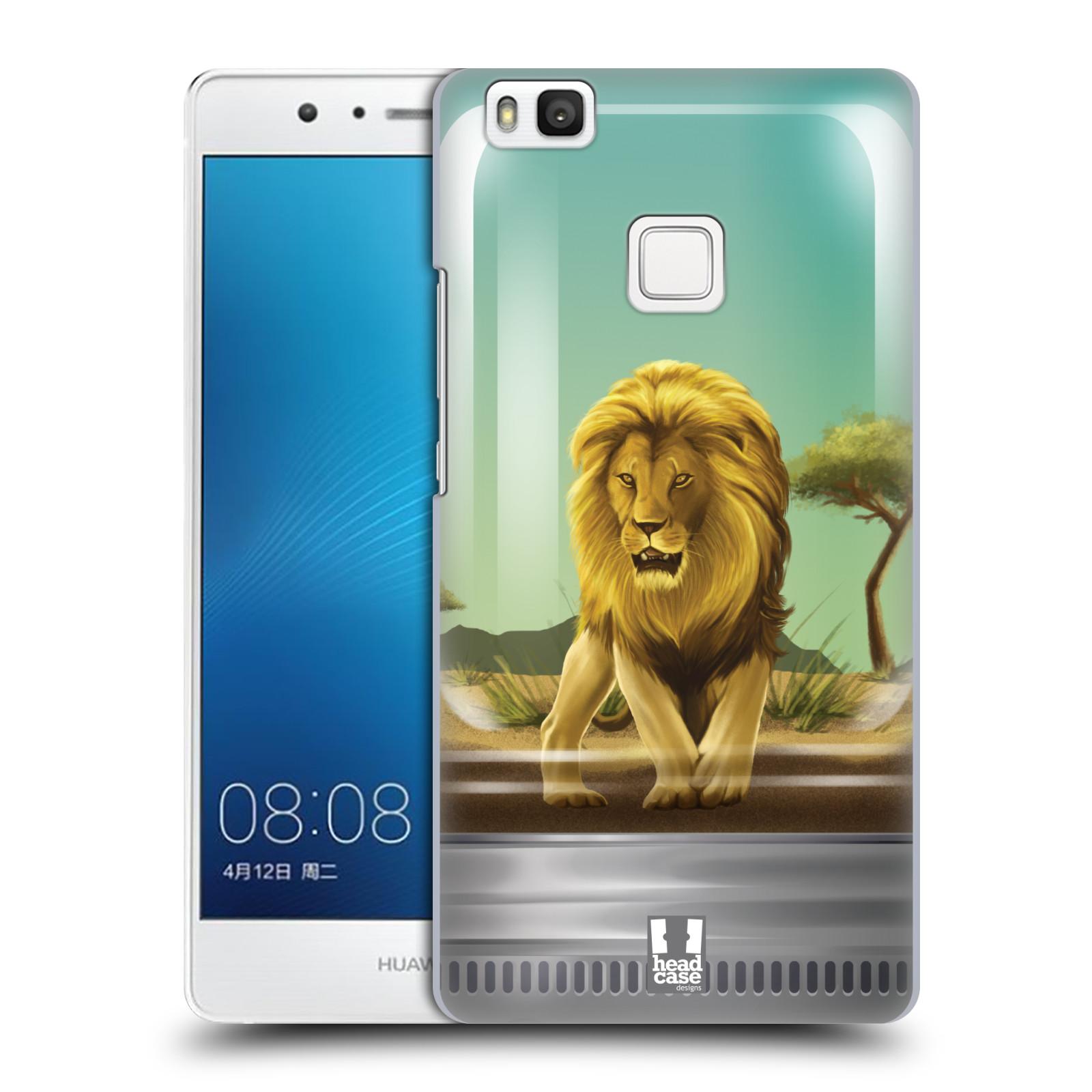 HEAD CASE plastový obal na mobil Huawei P9 LITE / P9 LITE DUAL SIM vzor Zvířátka v těžítku lev