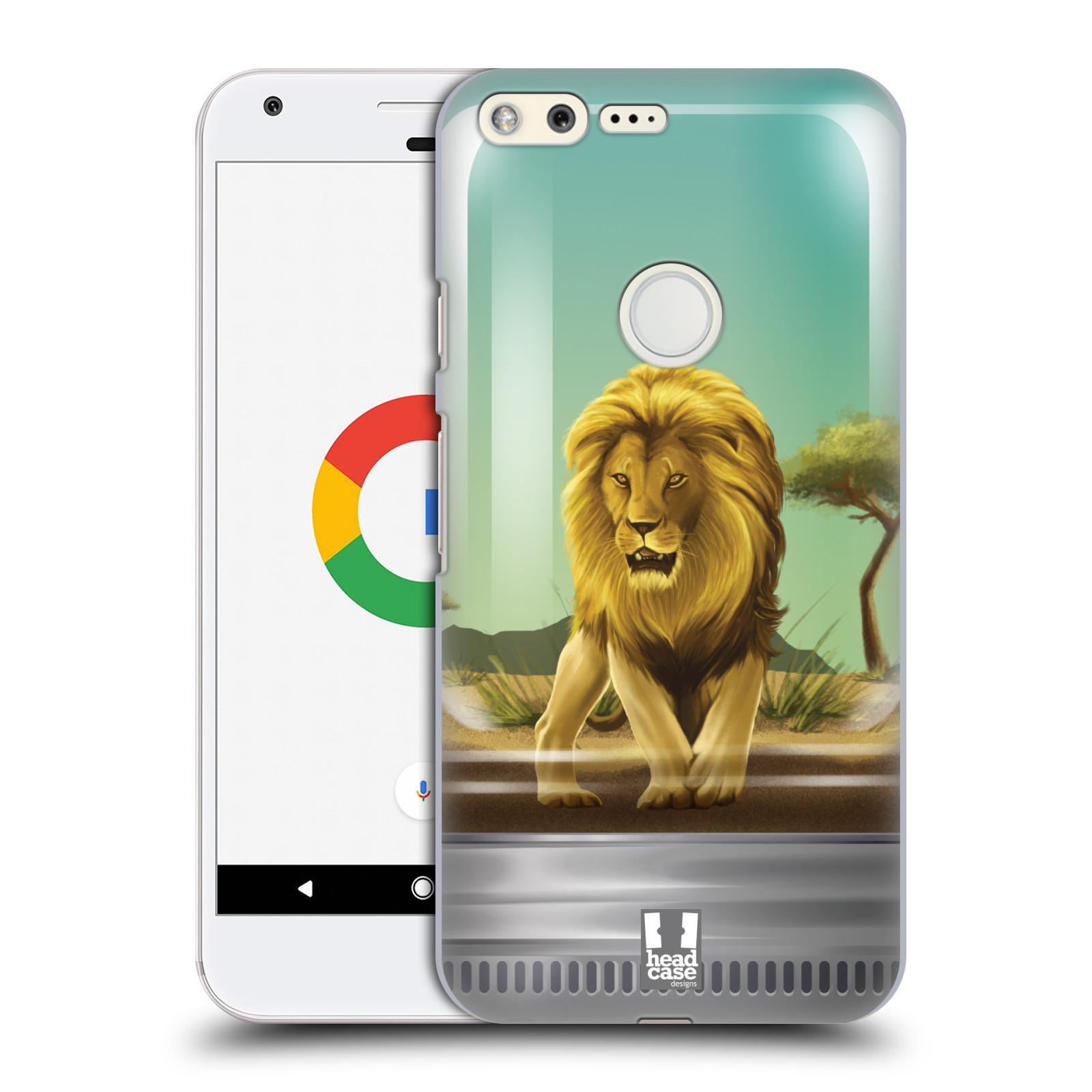 HEAD CASE plastový obal na mobil GOOGLE Pixel vzor Zvířátka v těžítku lev