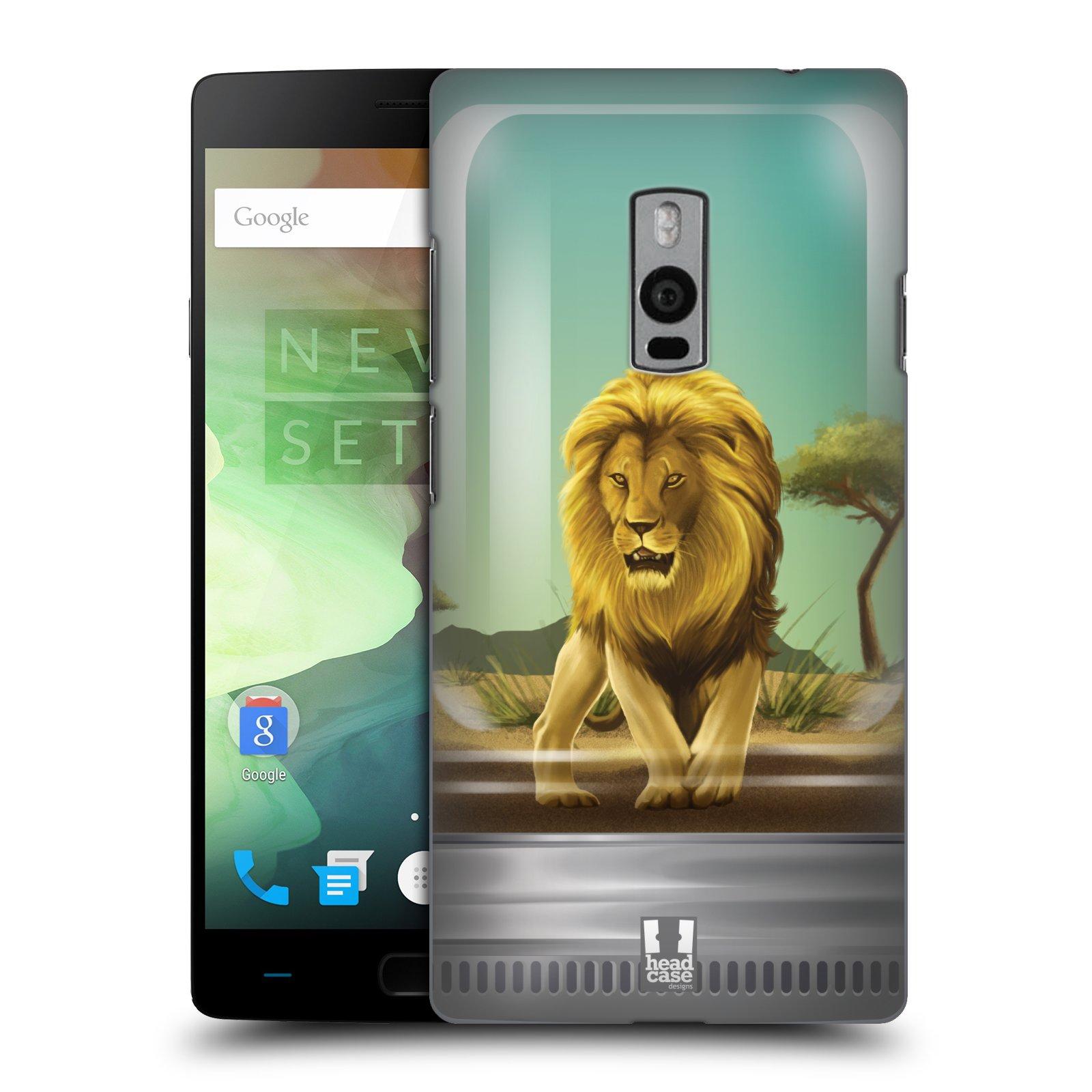 HEAD CASE pevný plastový obal na mobil OnePlus 2  ( TWO ) vzor Zvířátka v těžítku lev